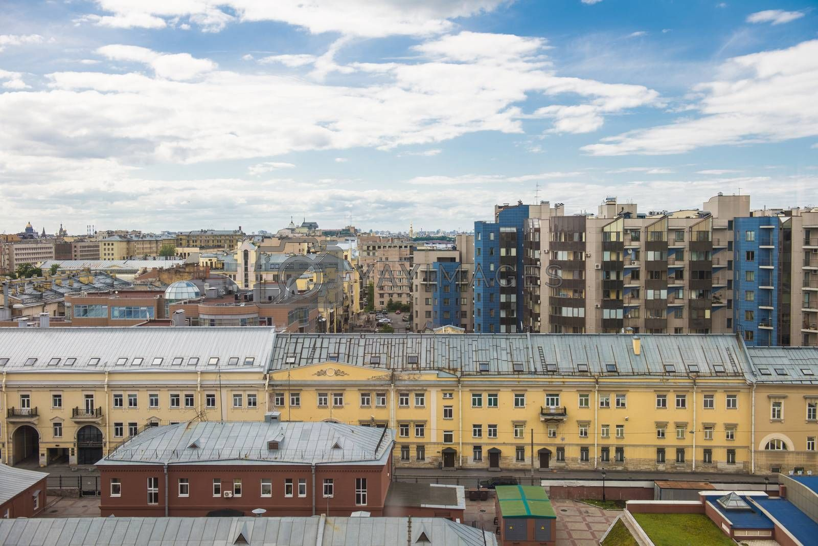 The roofs of Sankt Petersburg, Russia