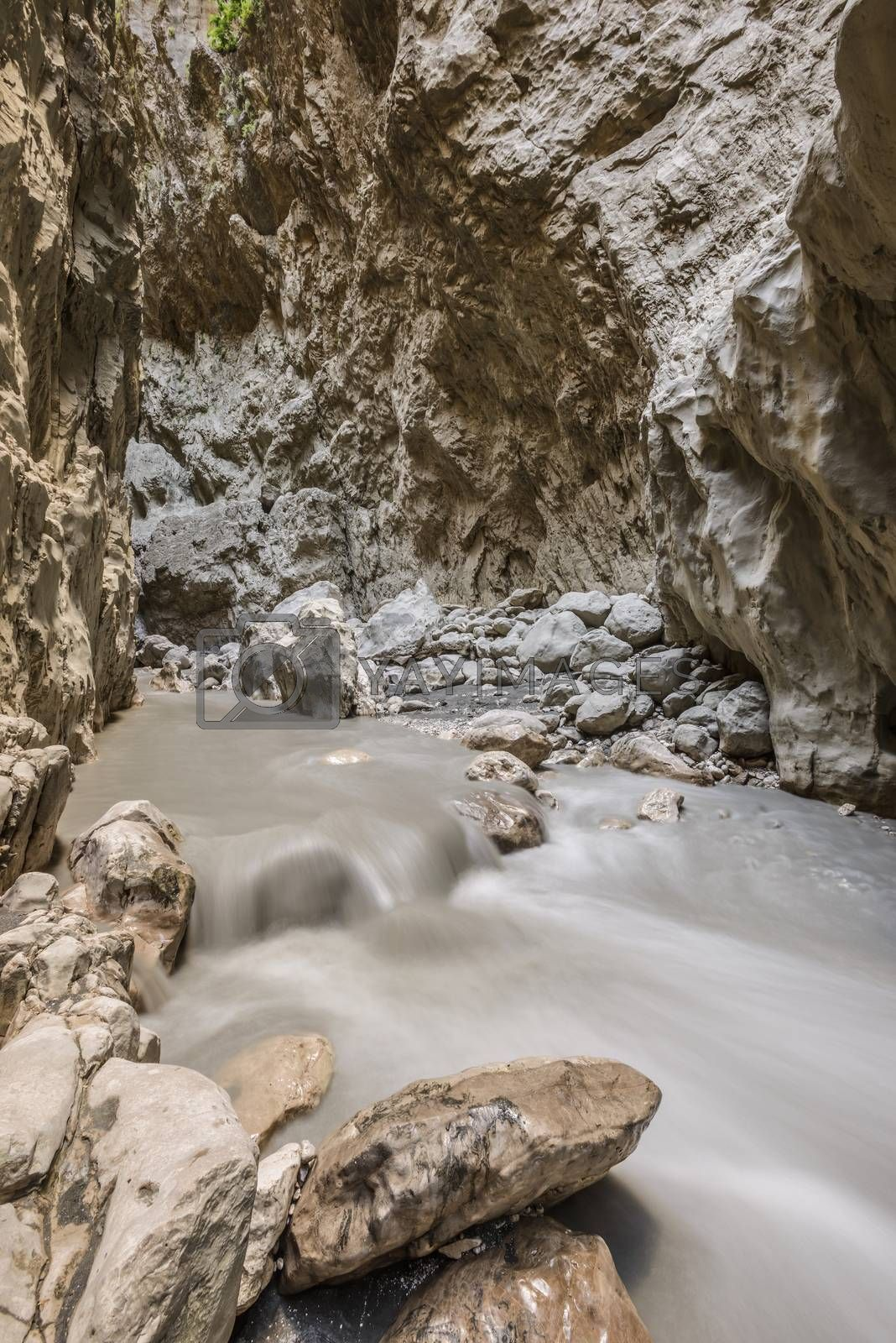 Saklikent Gorge, a slot canyon and tourist attraction in Southern Turkey near Fethiye