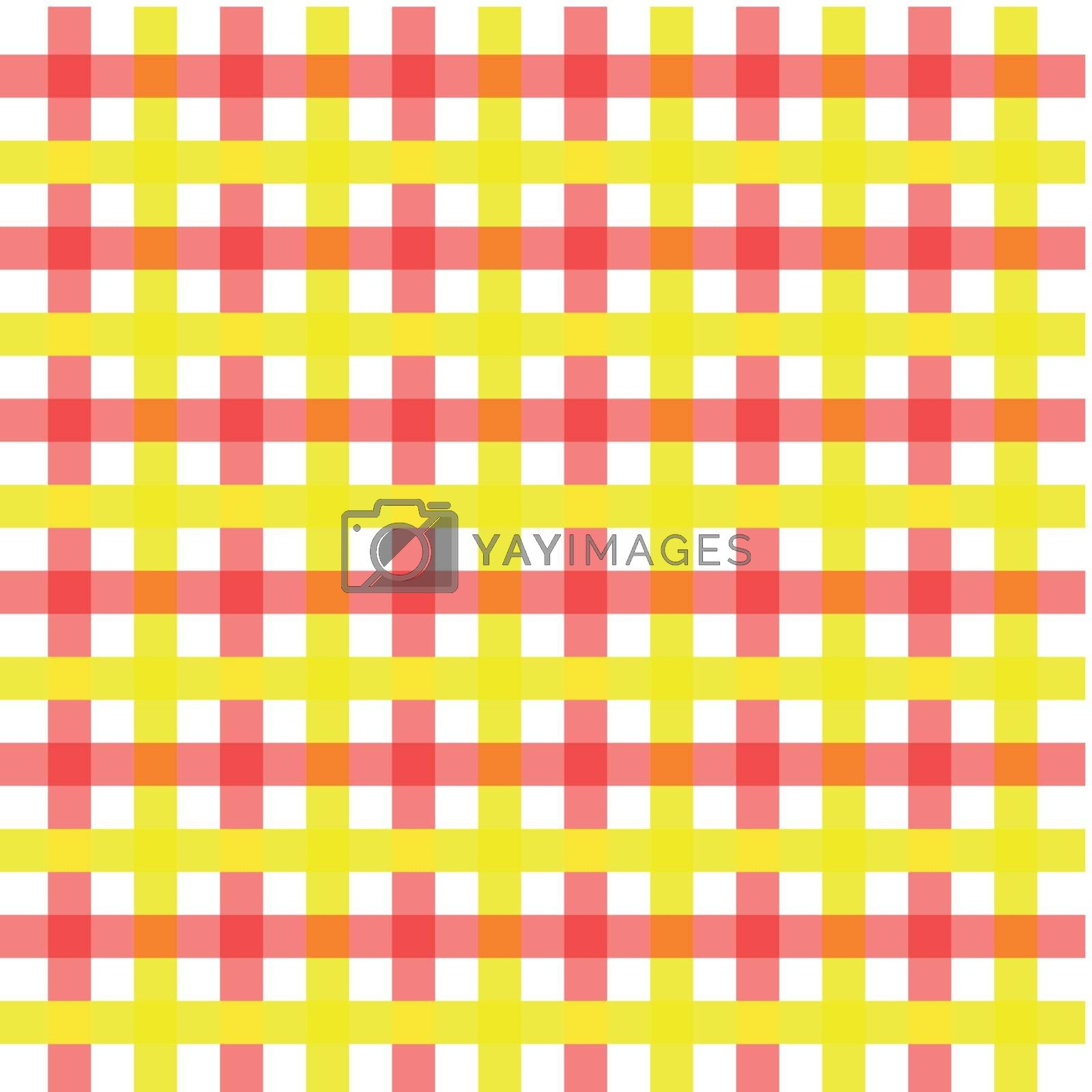 Vector illustration of red and yellow vintage background concept