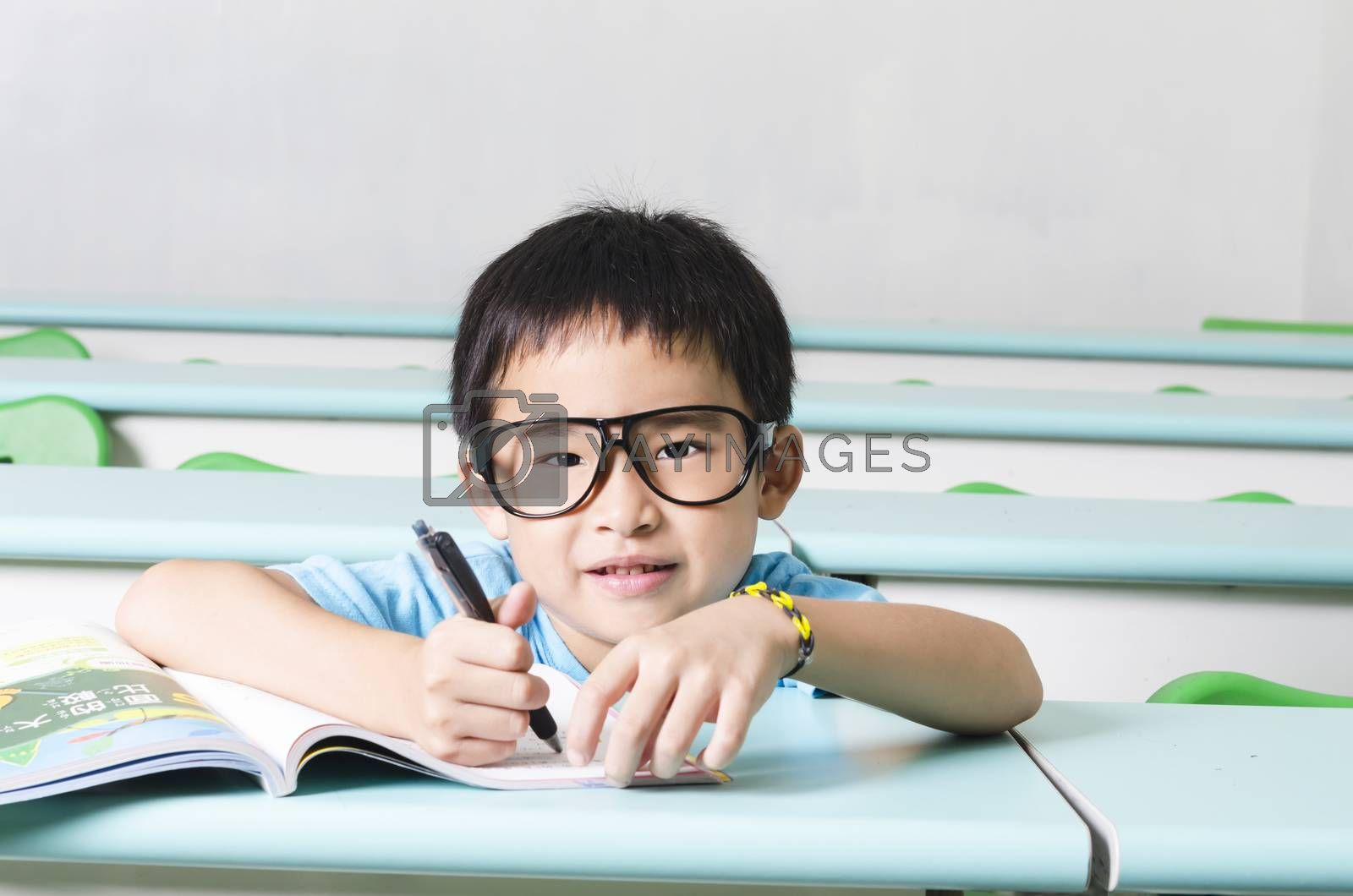 Royalty free image of Smart student by FrankyLiu