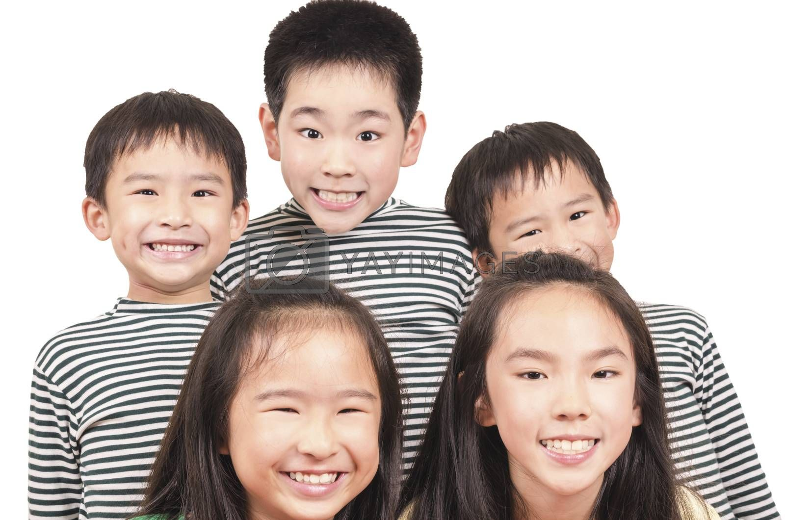 Royalty free image of Group of happy kids by FrankyLiu