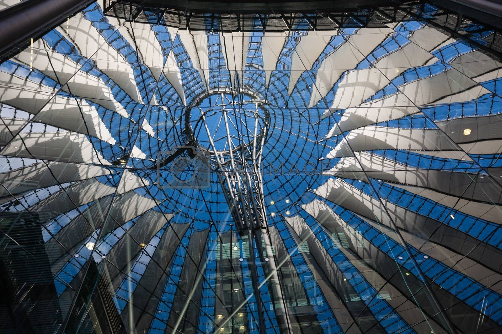 Reflections from the ceiling structure  in Berlin´s postdamer platz Germany