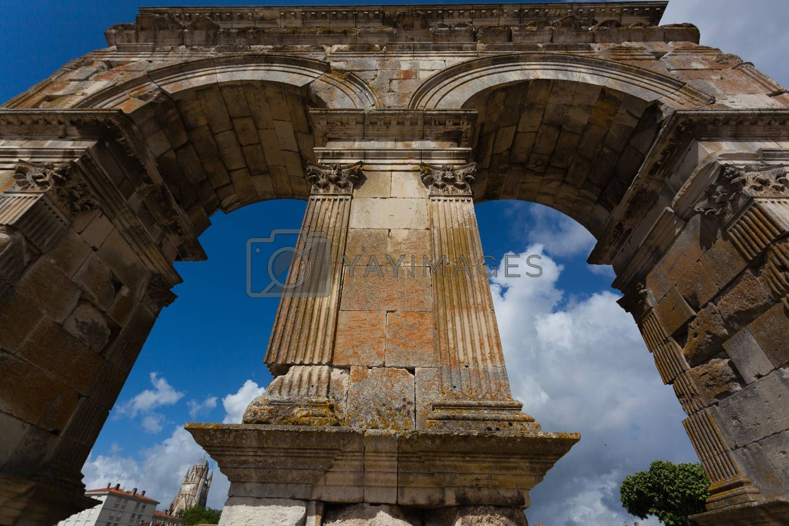 Germanic roman arch of the ville of Saintes in french charente maritime region