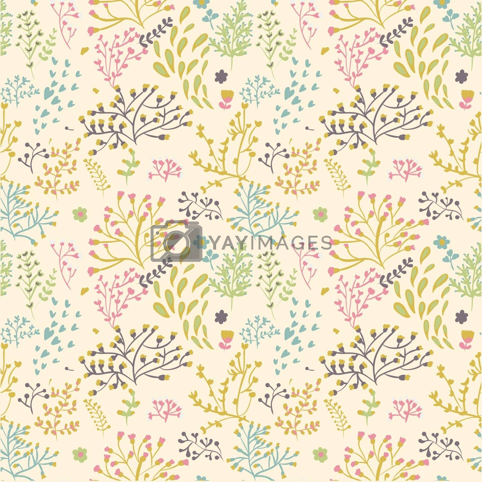 seamless pattern with leaf. Floral pattern.