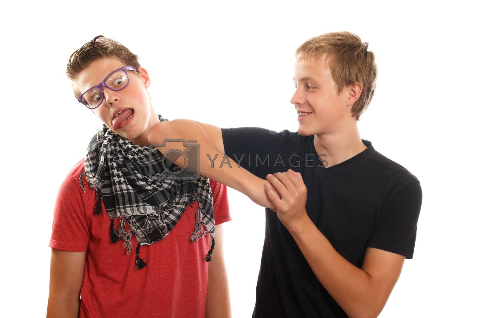 Royalty free image of teen bullying by AigarsR