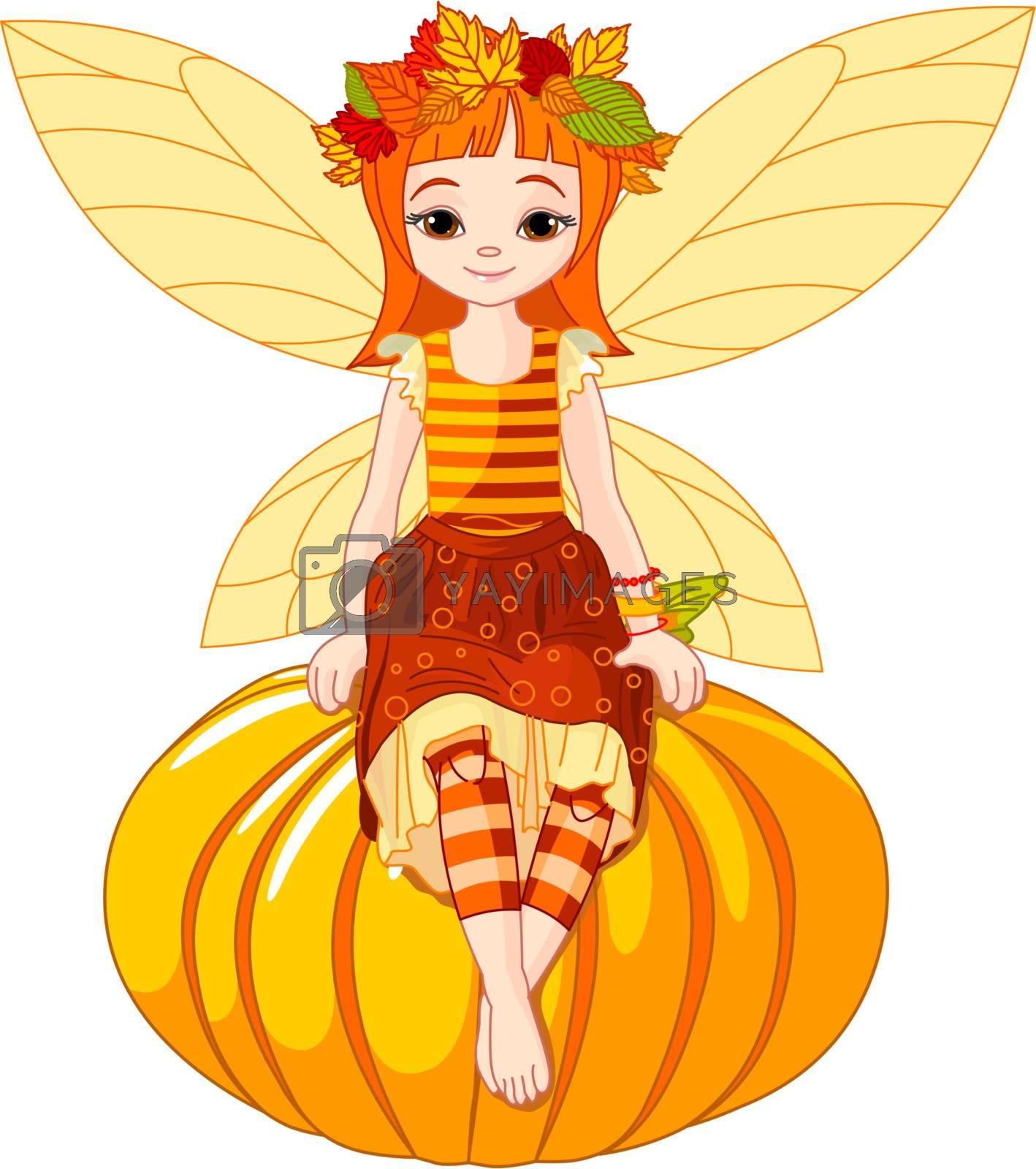 Royalty free image of Autumn fairy girl by Dazdraperma