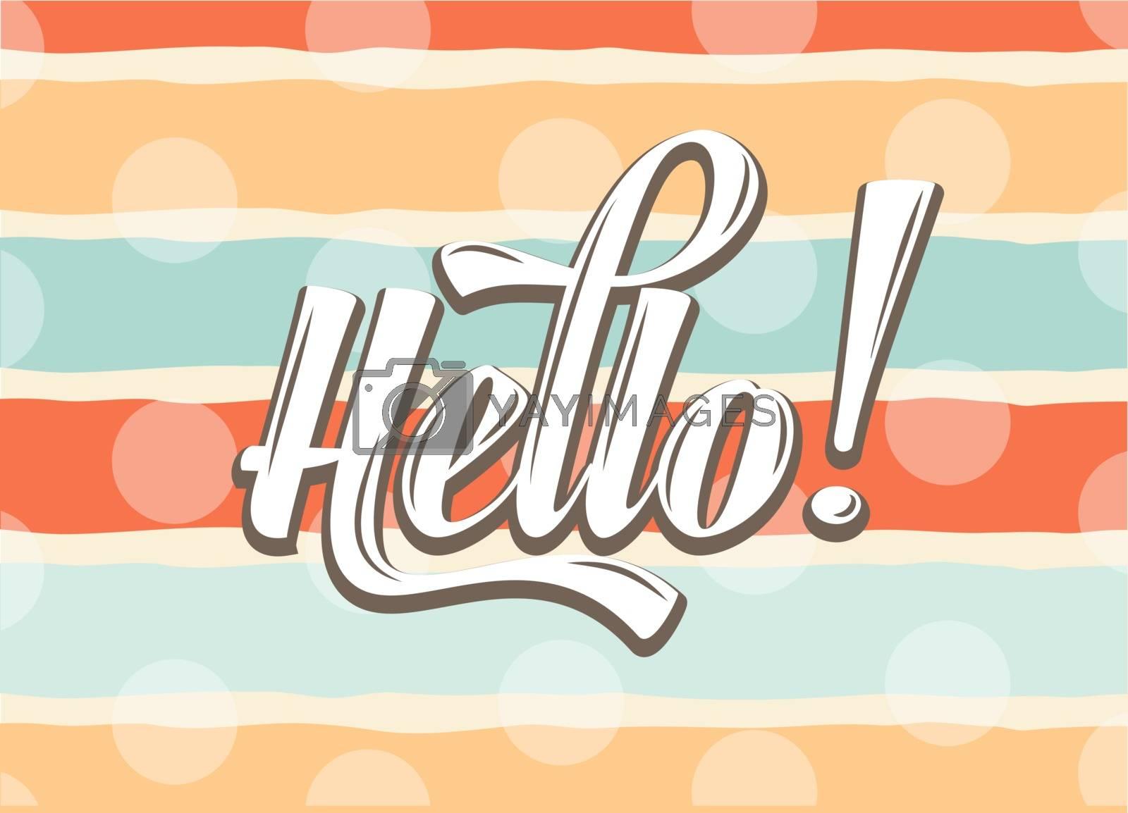 "Royalty free image of Calligraphic Writing ""Hello"" by balasoiu"