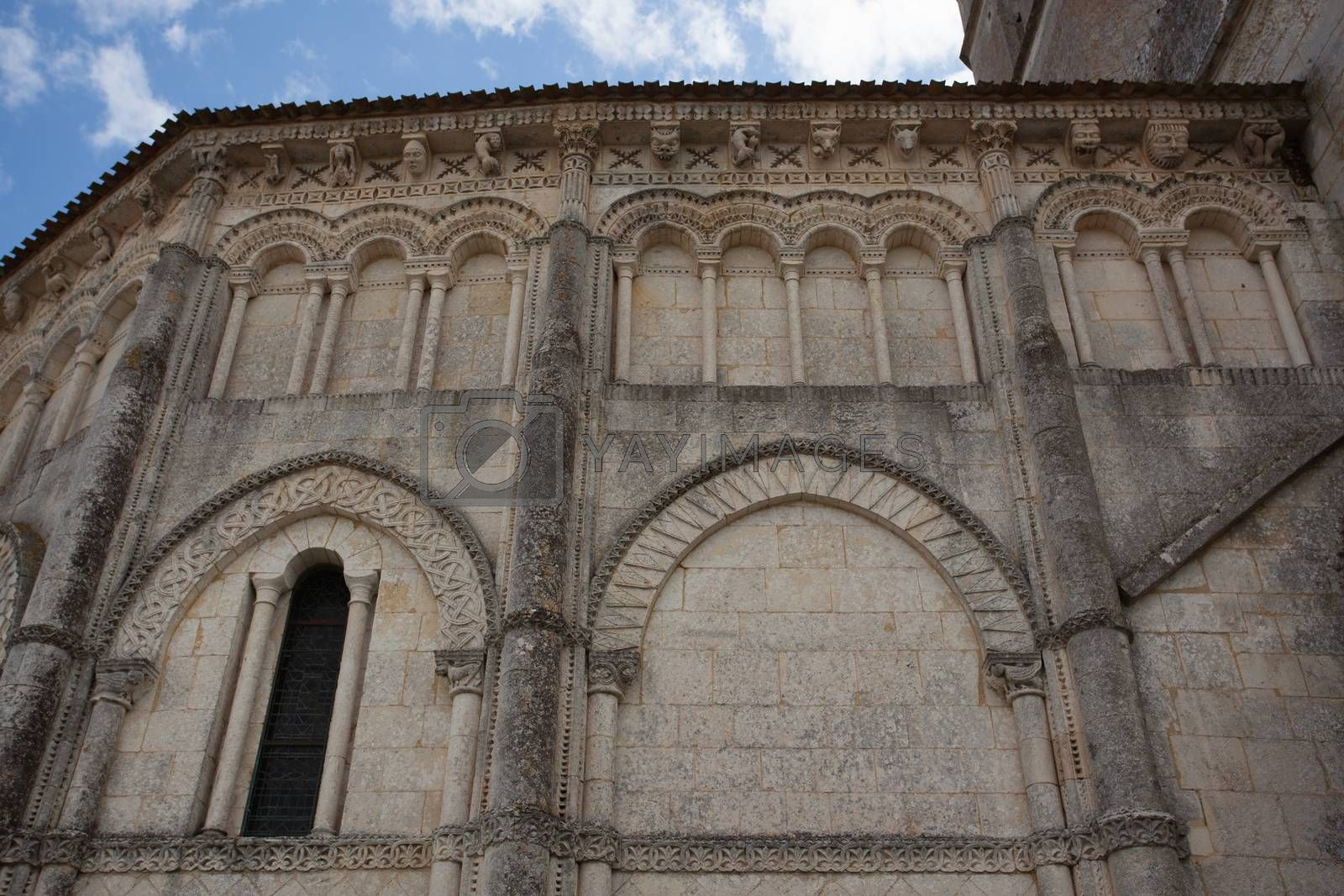 Detail Abse of the romanesque Retaud church,Charente, France