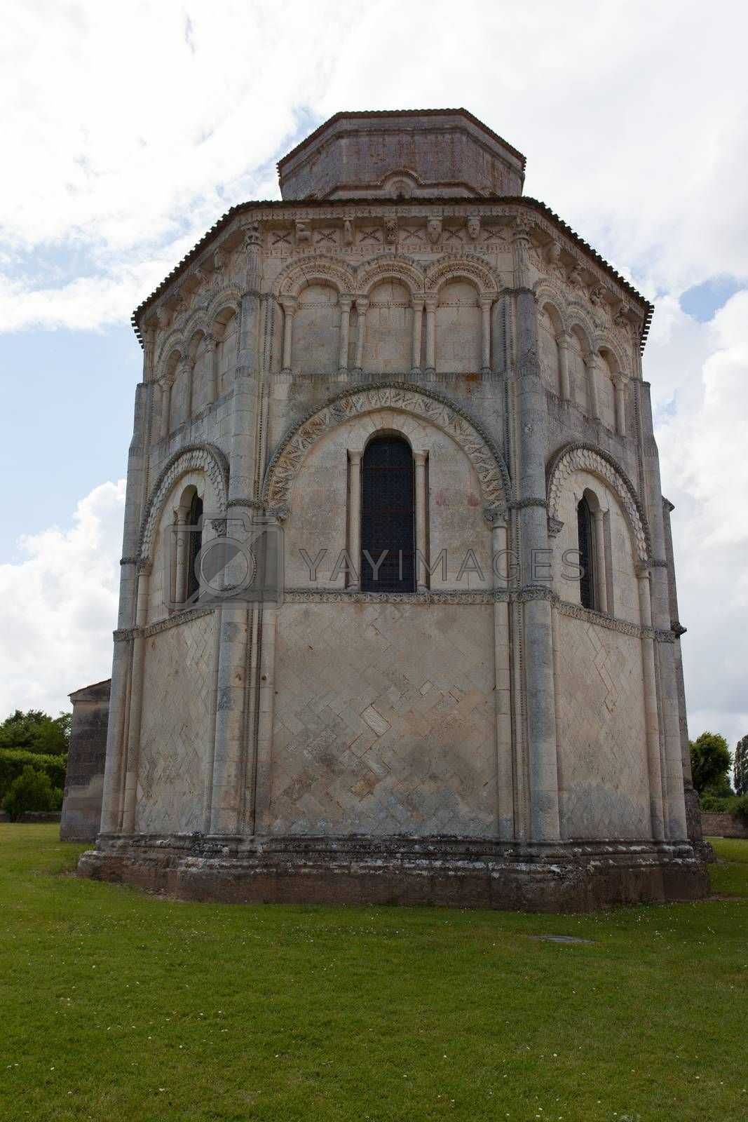 Abse of the romanesque Retaud church,Charente, France