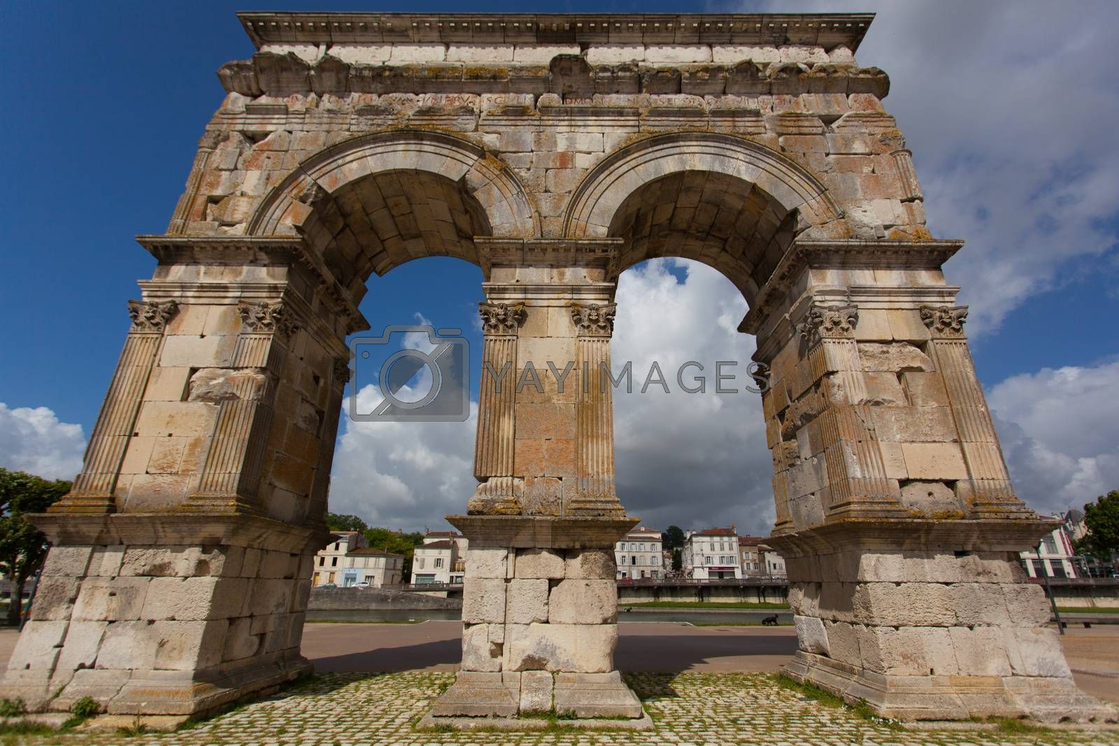 Germanicus roman arch of the ville of Saintes in french charente maritime region