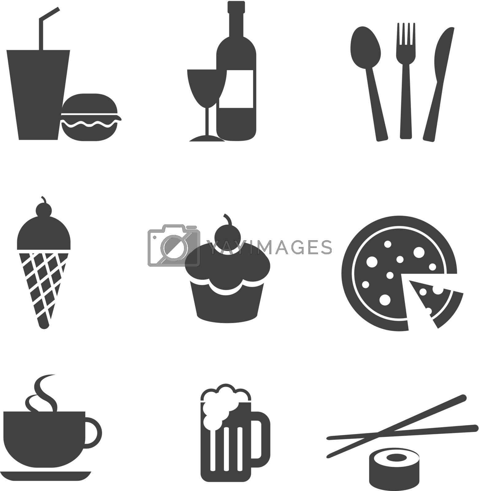 food and drink icons by kaisorn