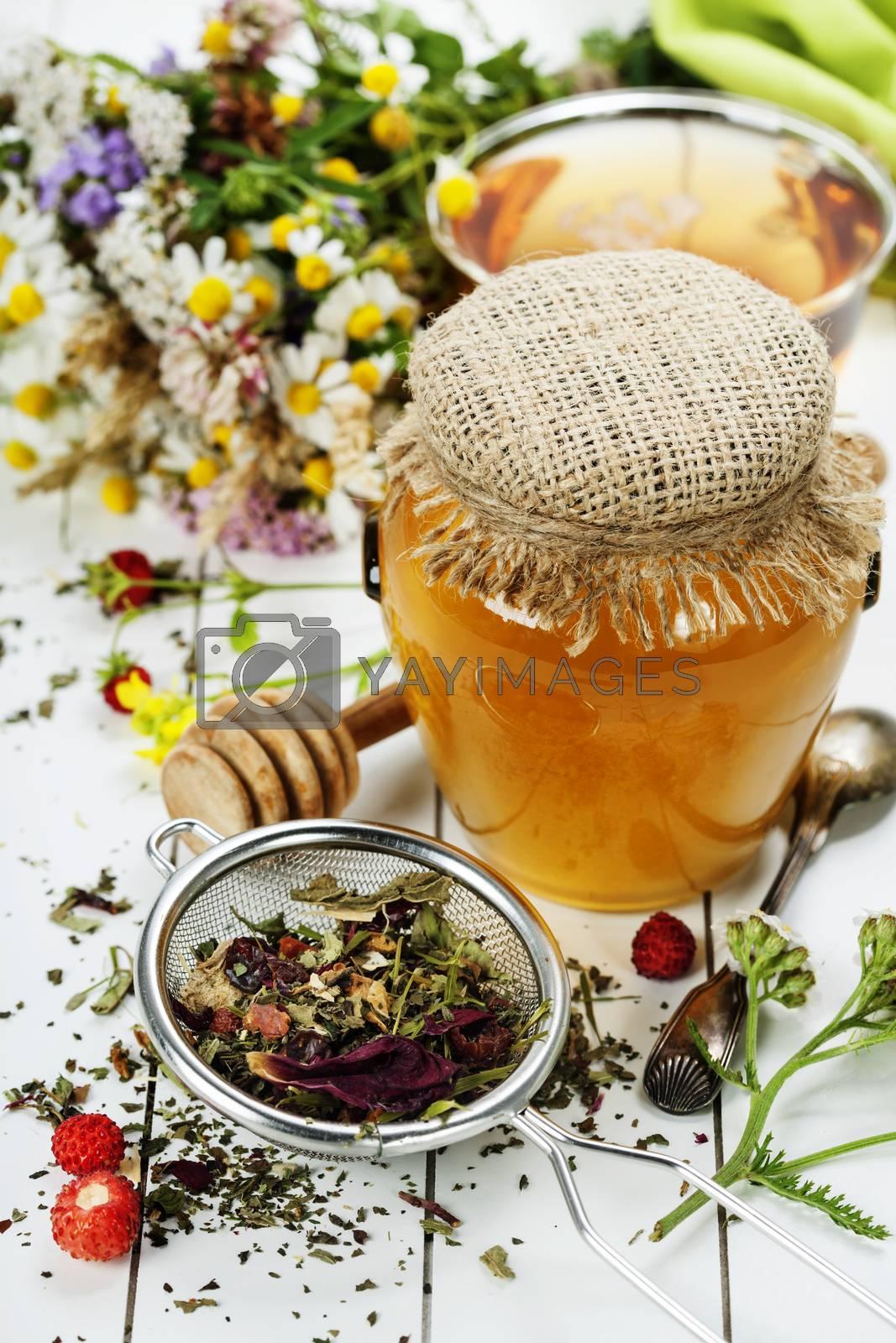 Honey and Herbal tea by klenova