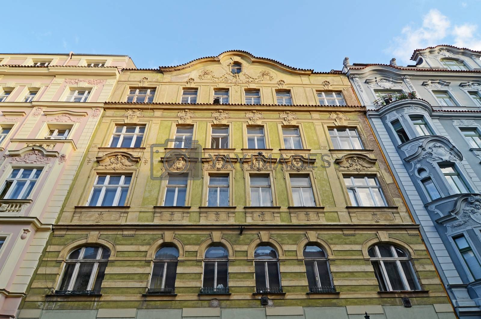 historical architecture in Prague by sarkao