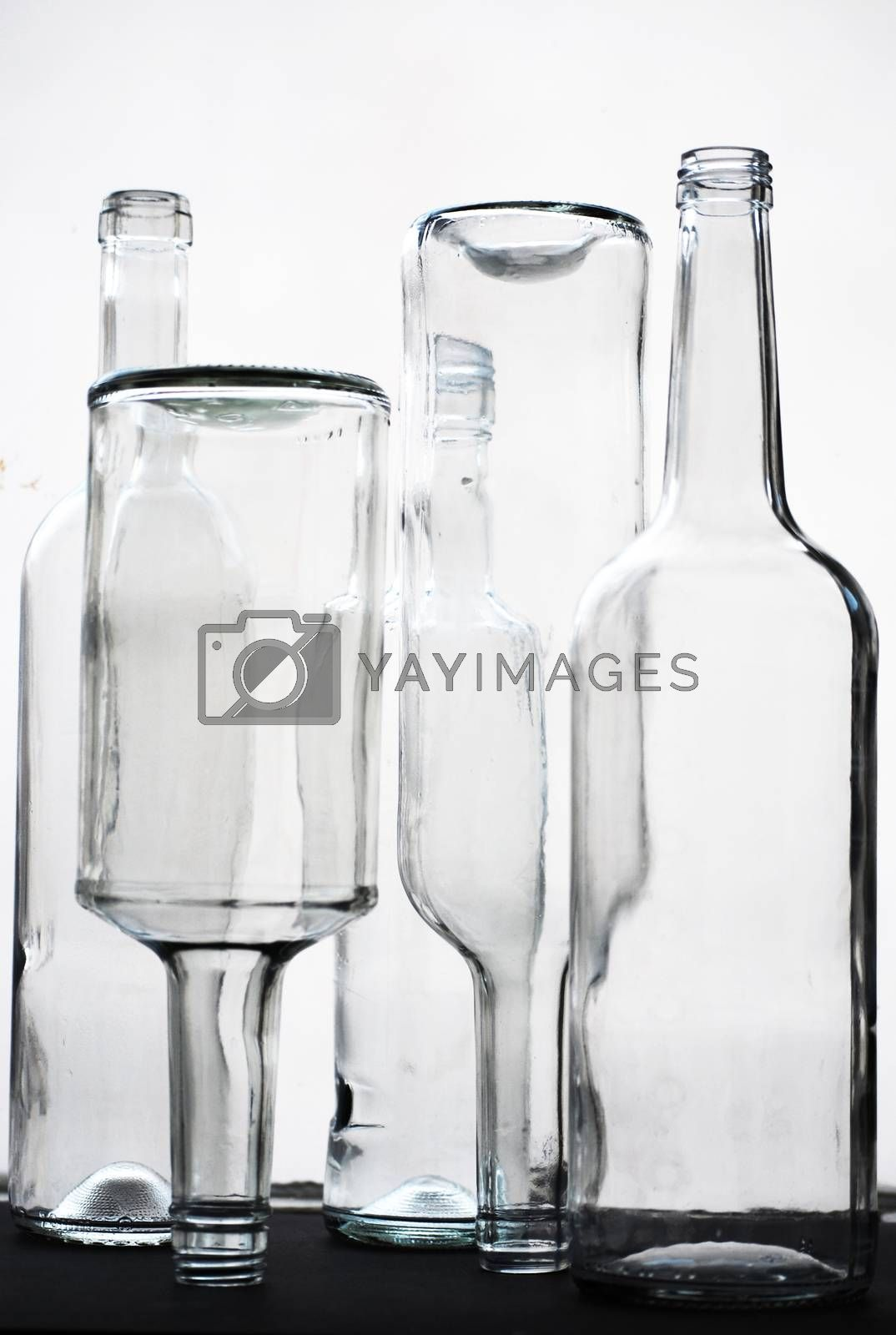 glass bottles by sarkao
