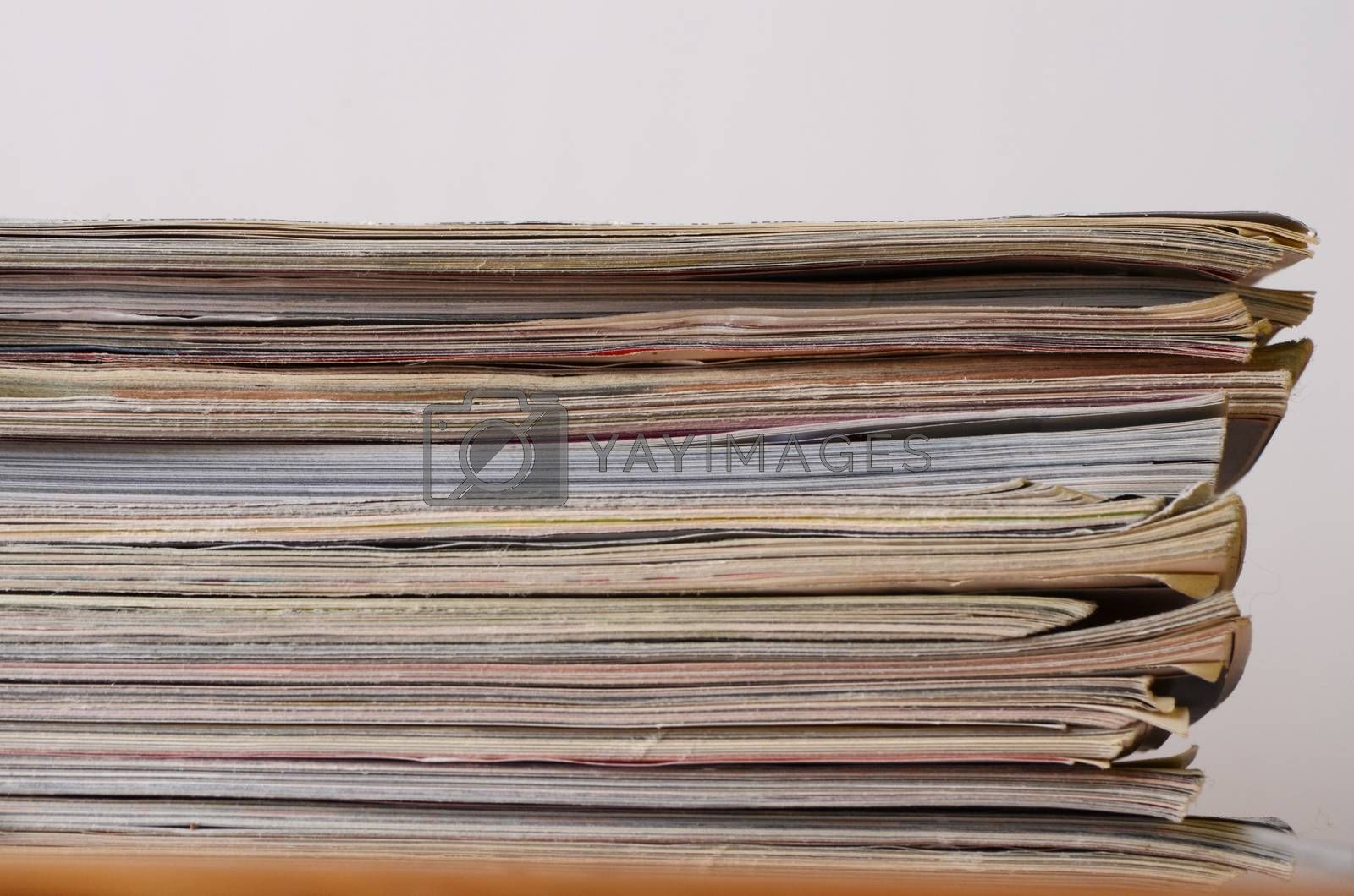 stack of magazines by sarkao