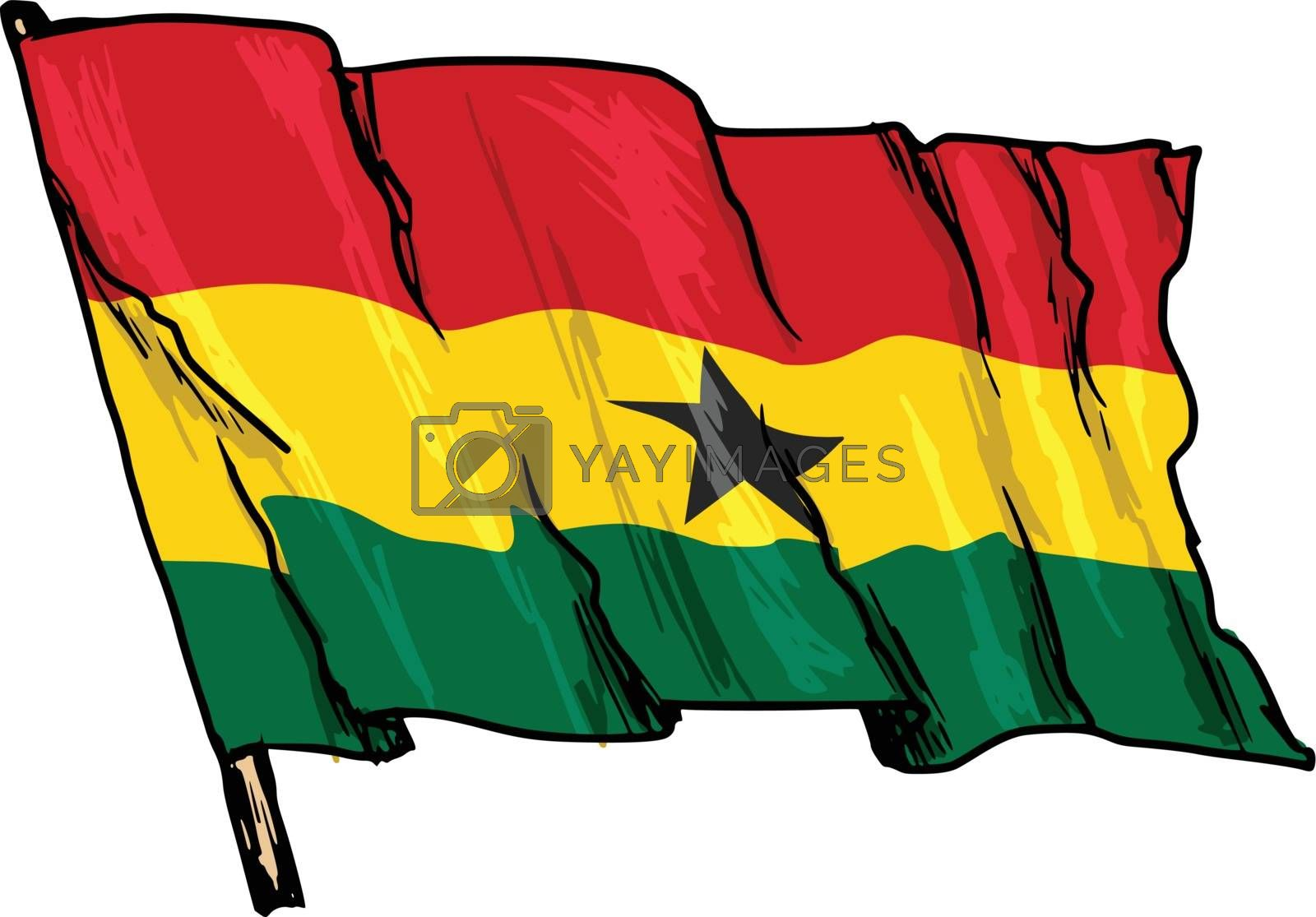 flag of Ghana by Perysty