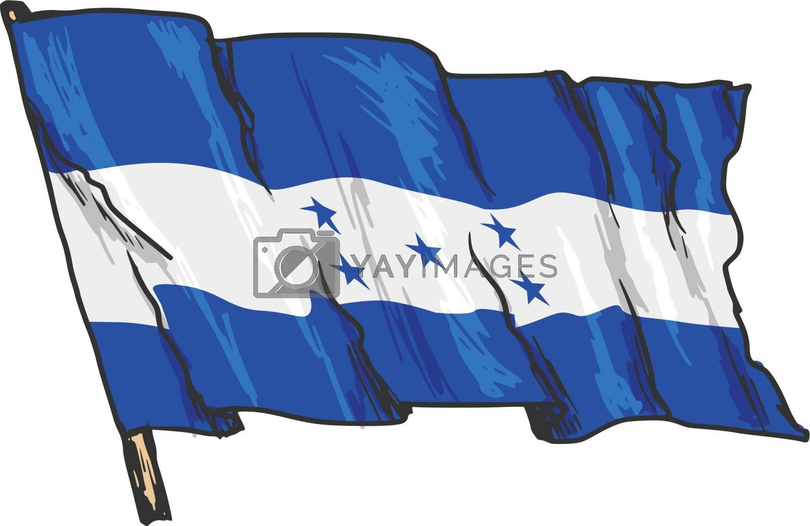 flag of Honduras by Perysty