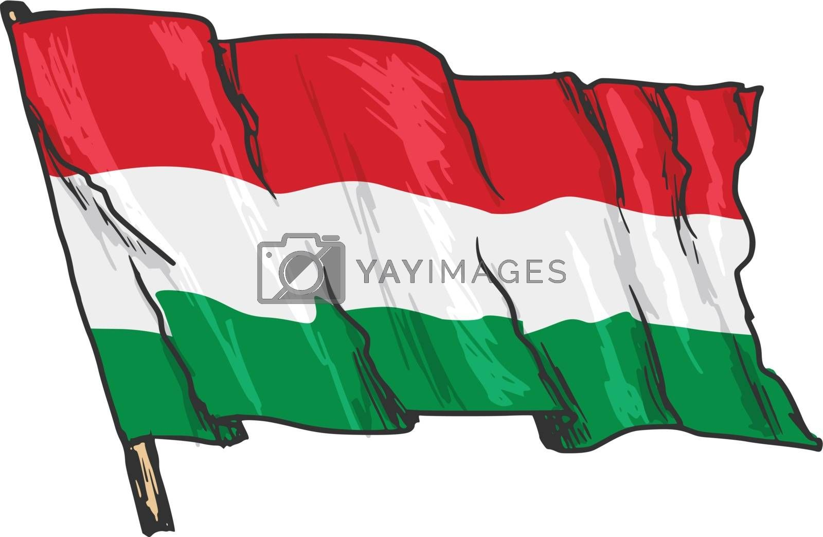flag of Hungary by Perysty