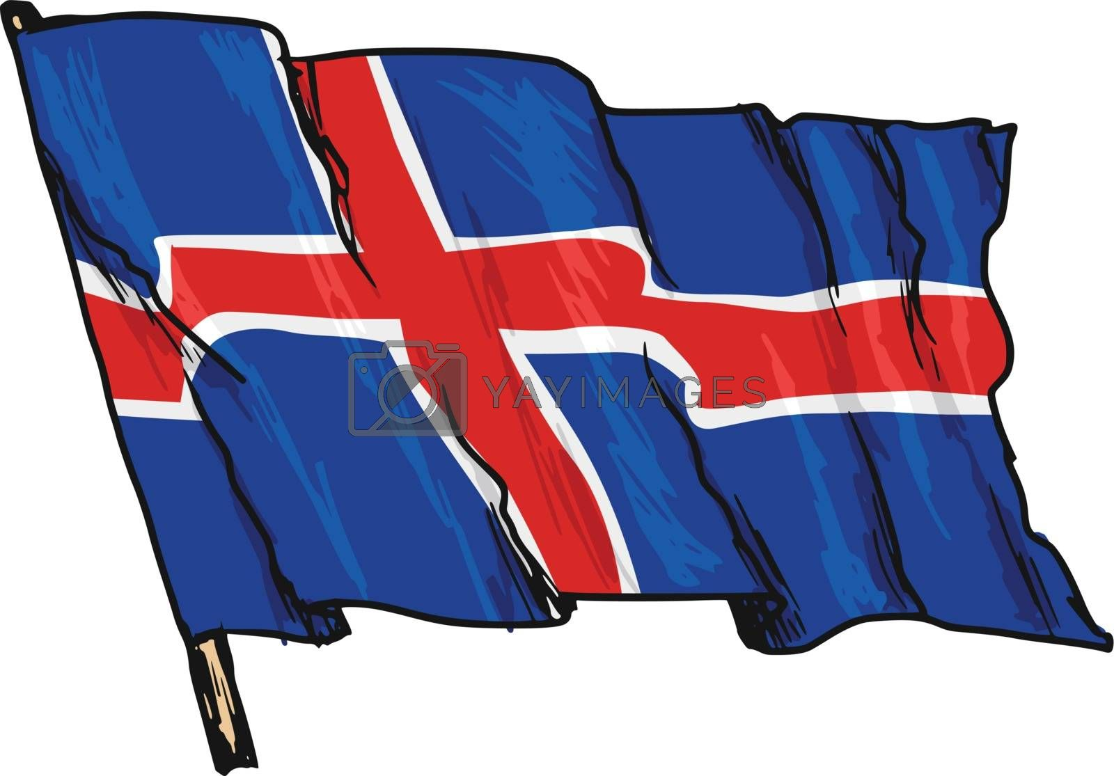 flag of Iceland by Perysty