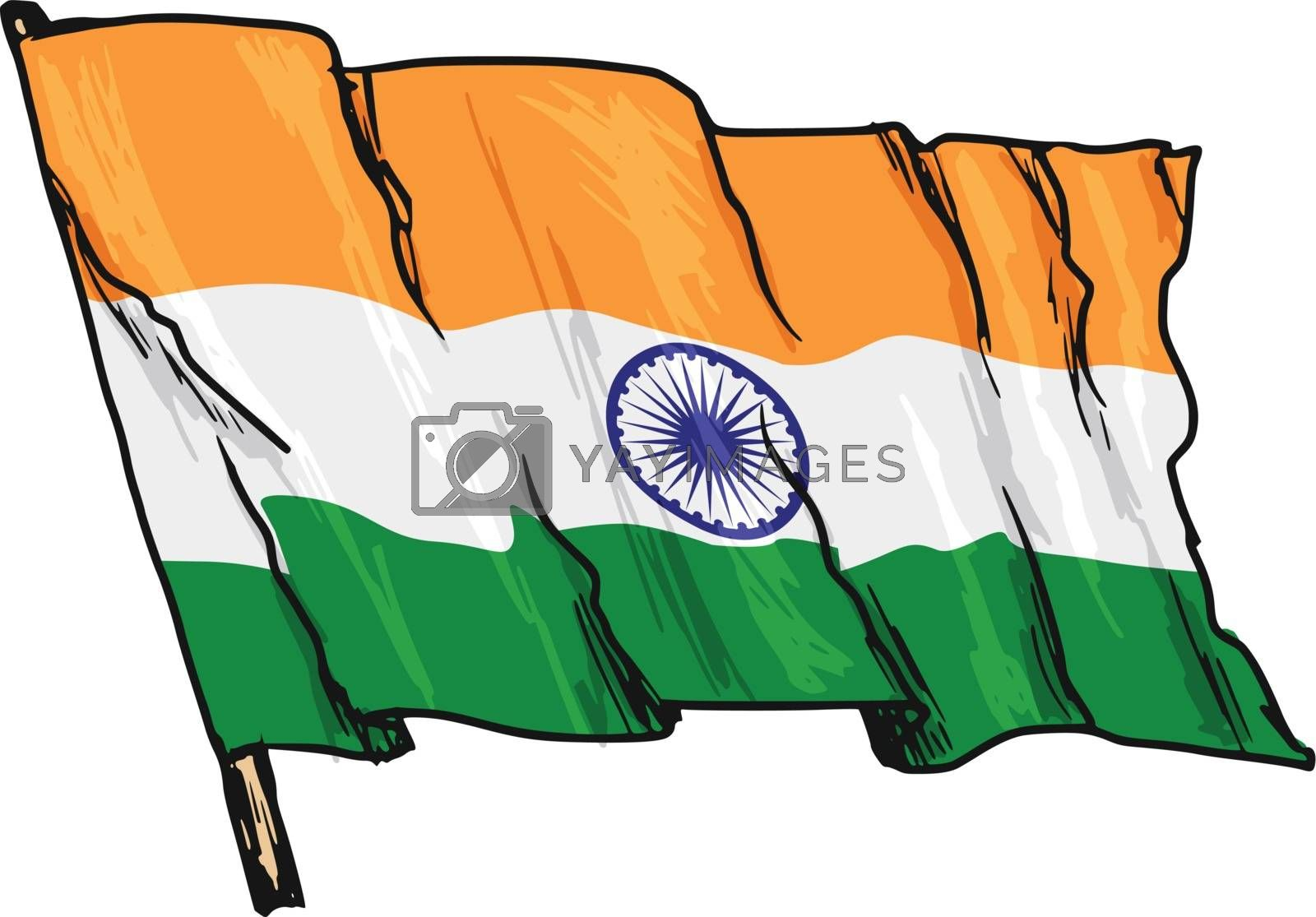flag of India by Perysty