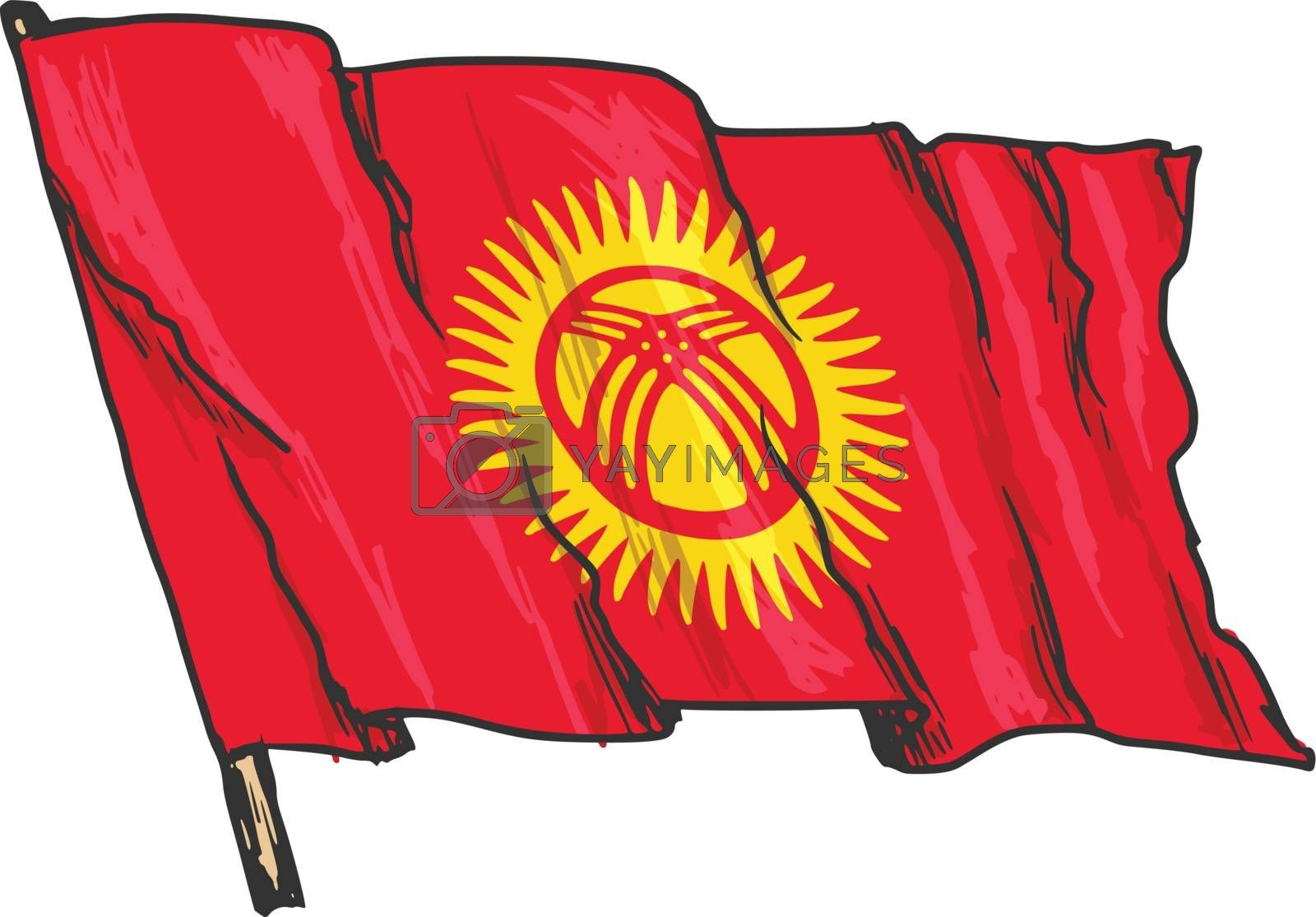 flag of Kyrgyzstan by Perysty
