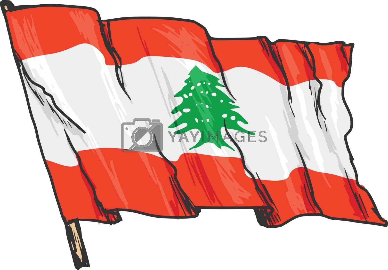 flag of Lebanon by Perysty