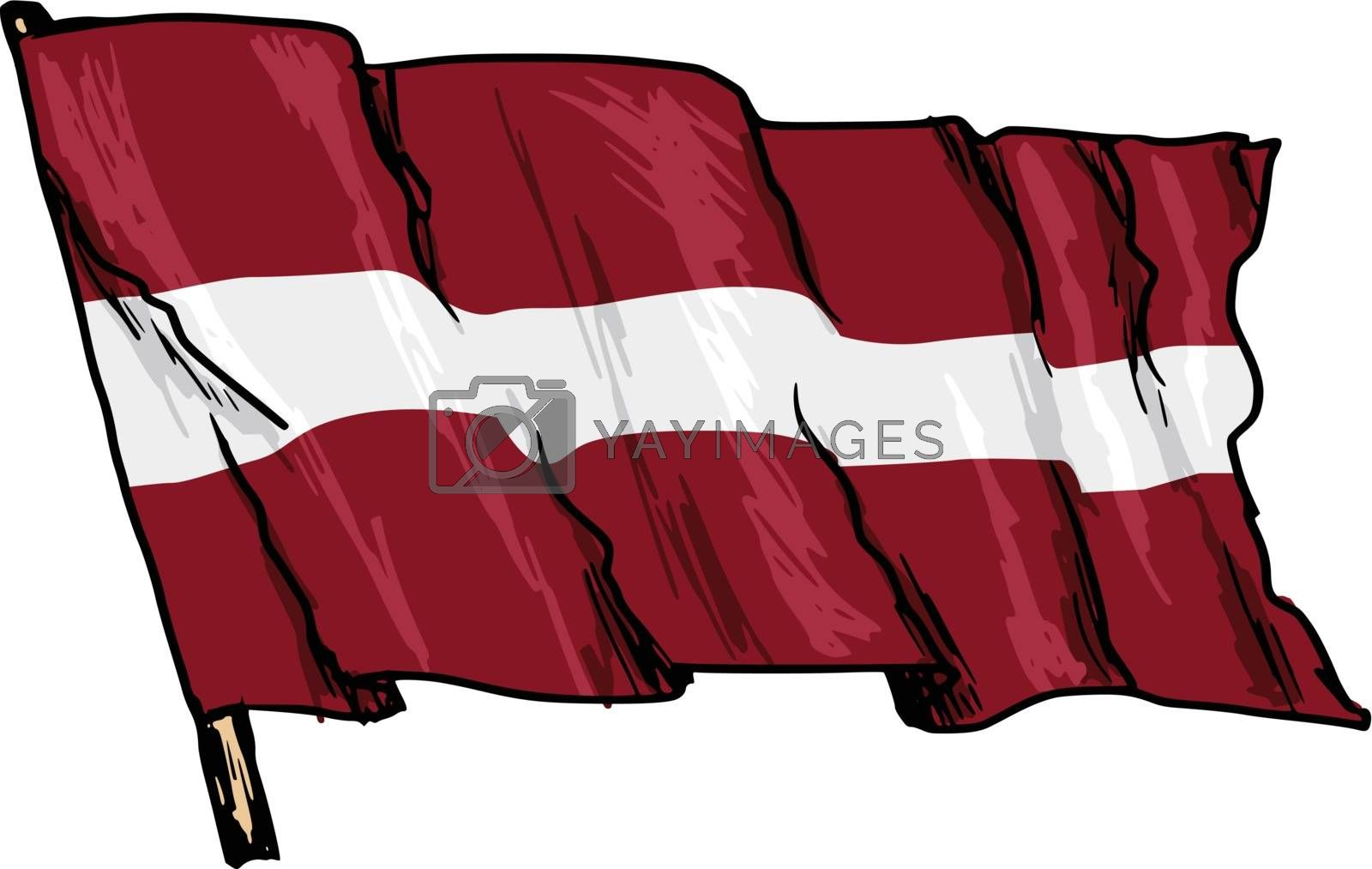 flag of Latvia by Perysty