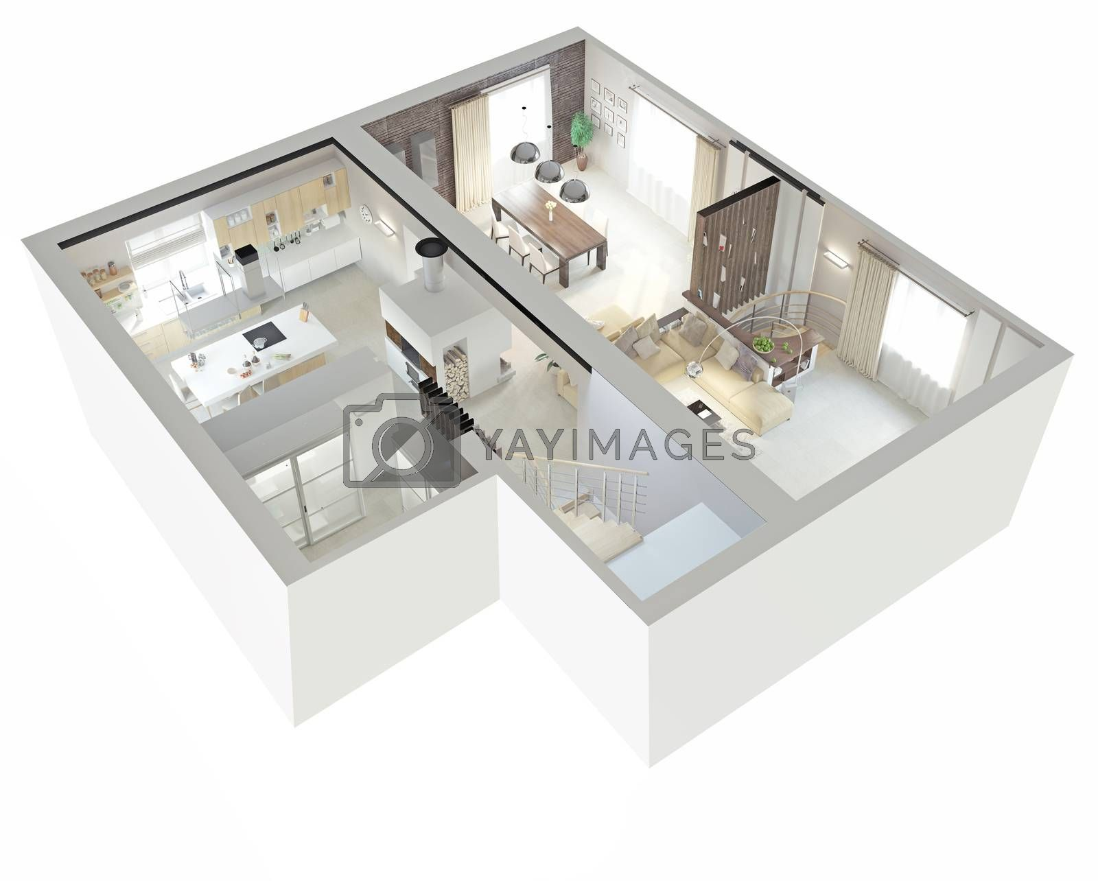 Plan view of an apartment by vicnt