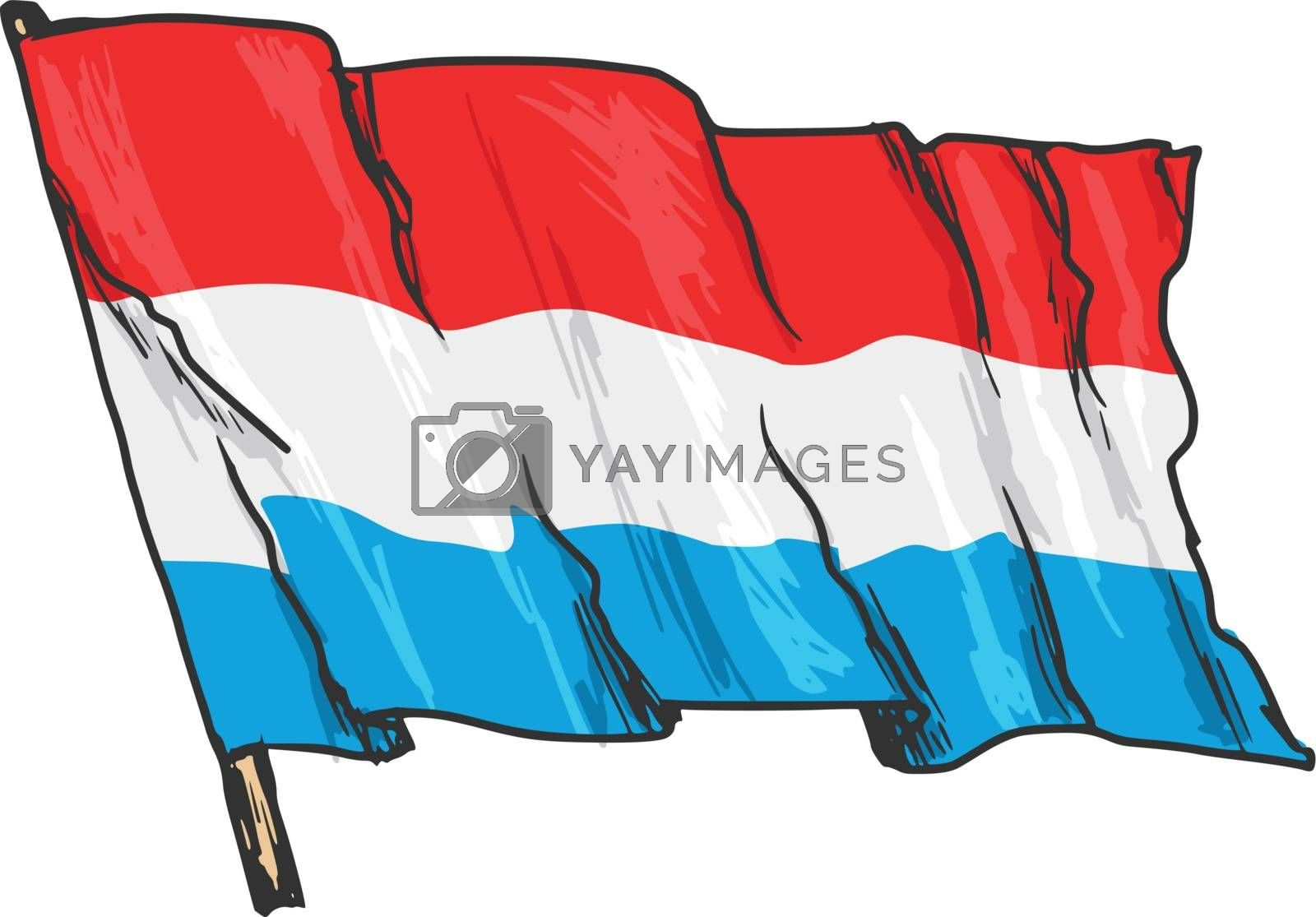 Royalty free image of flag of Luxembourg by Perysty