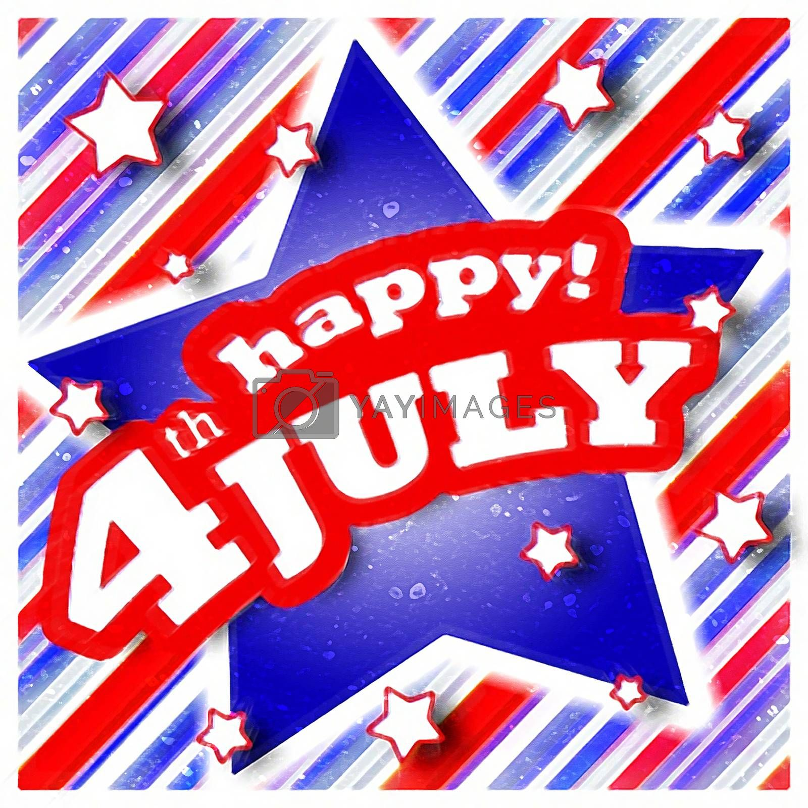 4th of July Celebration Design useful for any kind of event related with american events.
