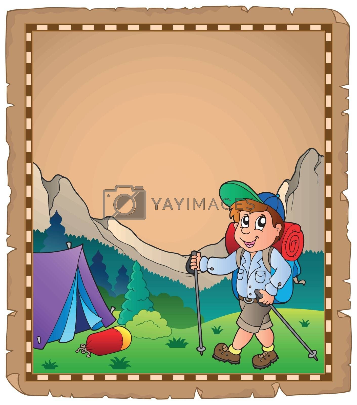 Parchment with travel theme 6 - eps10 vector illustration.