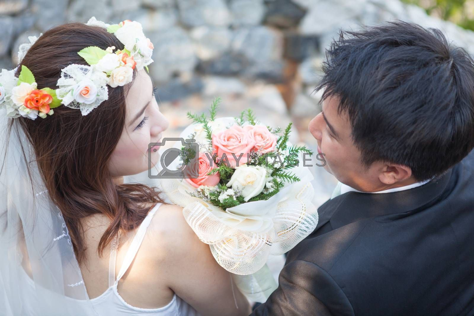 Royalty free image of Young couple in love by witthaya