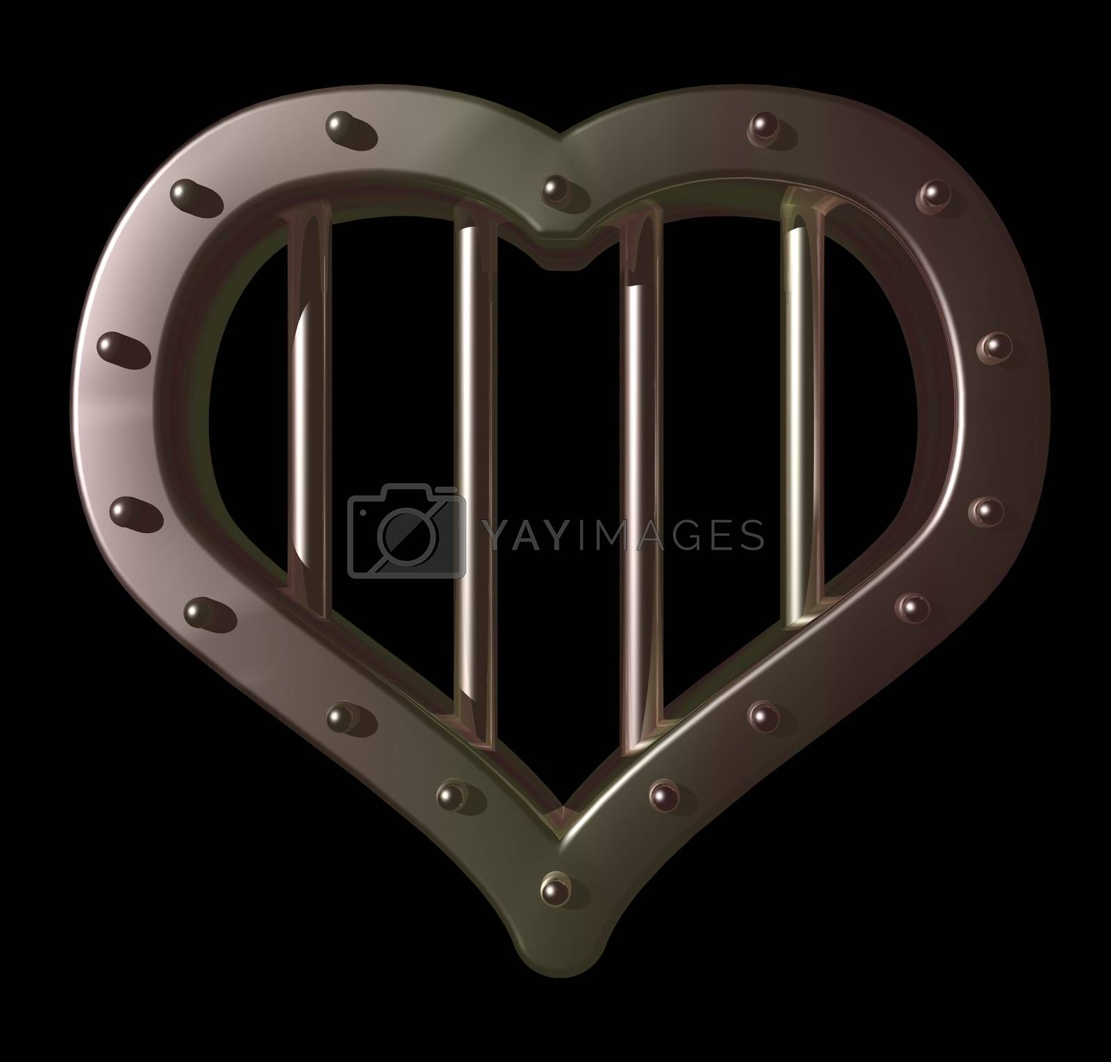 Royalty free image of heart prison by drizzd
