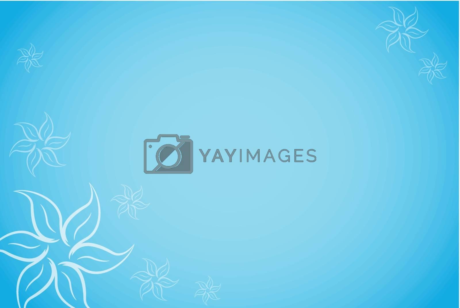 Vector illustration of blue floral background concept