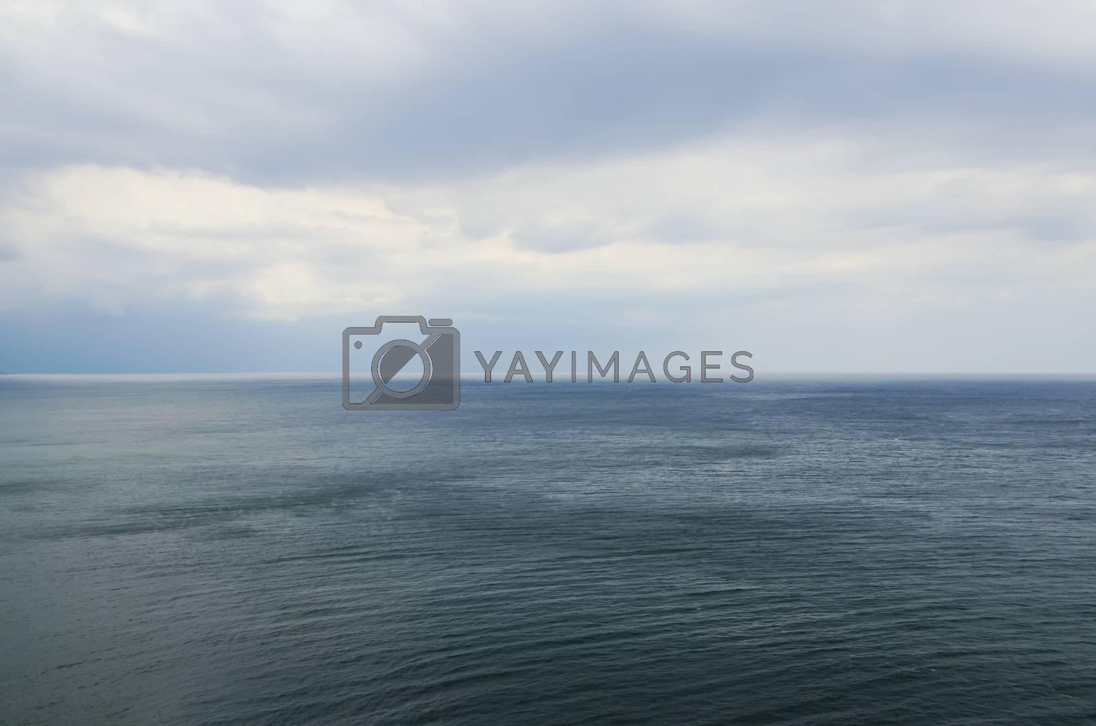 Photo of the Wavy Sea Clear Horizon