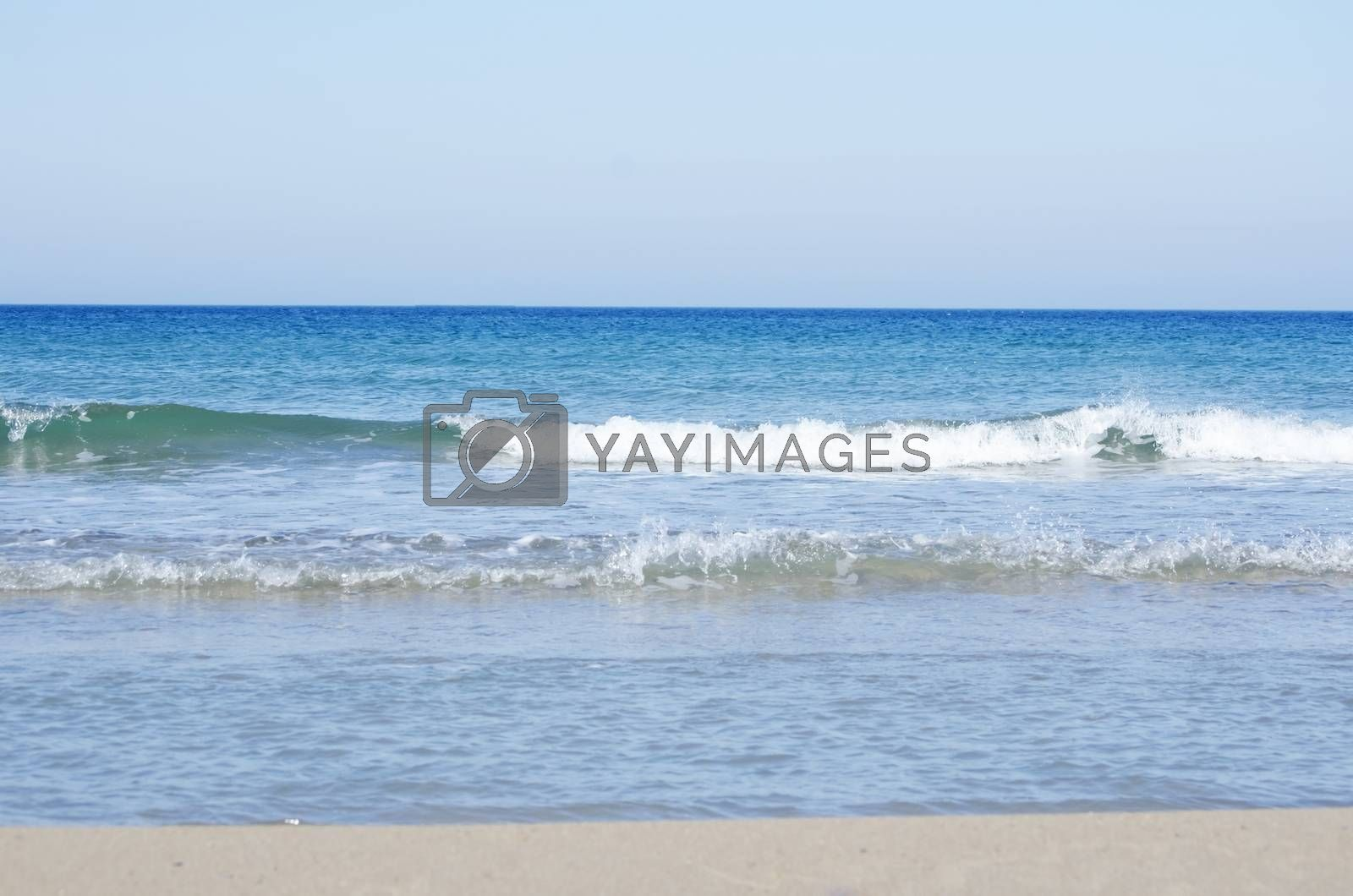 Photo of the Wavy Sea Clear Horizon
