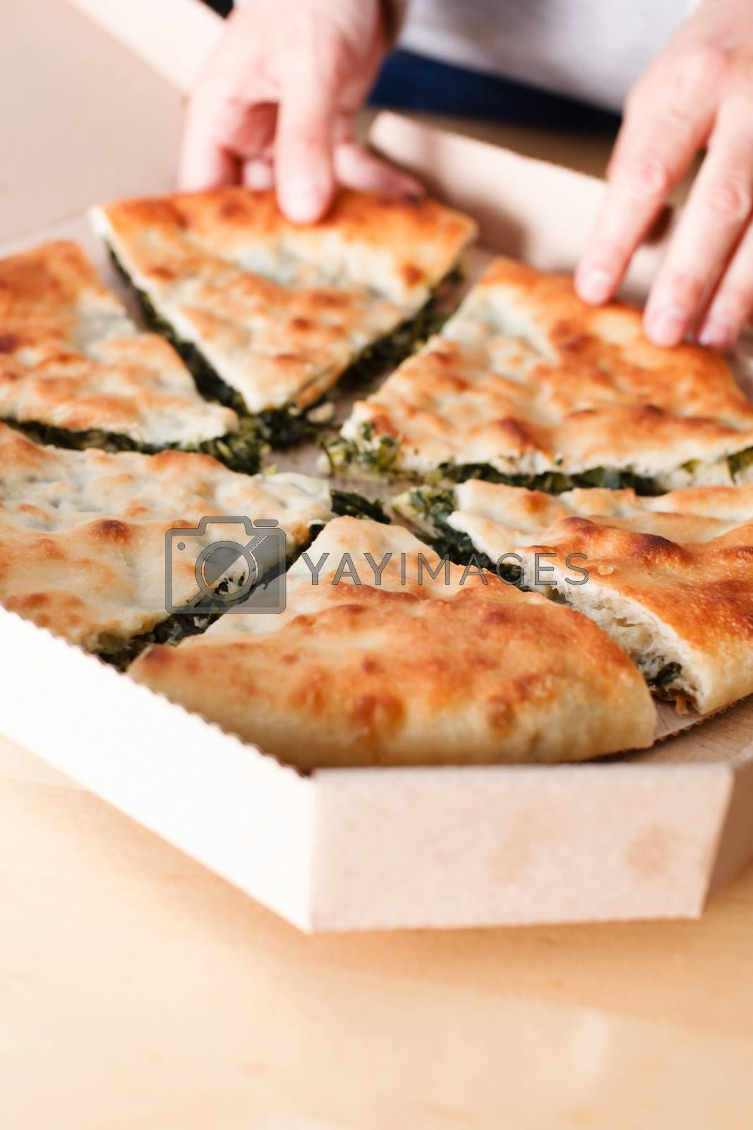 pie with herbs