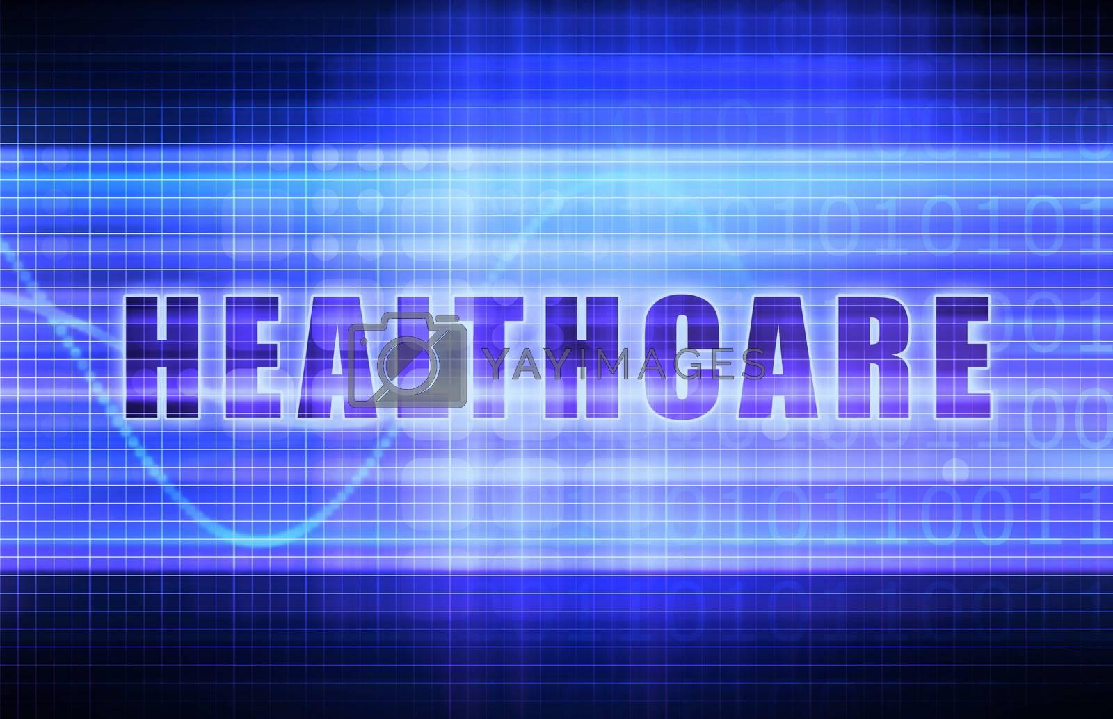 Healthcare on a Tech Business Chart Art