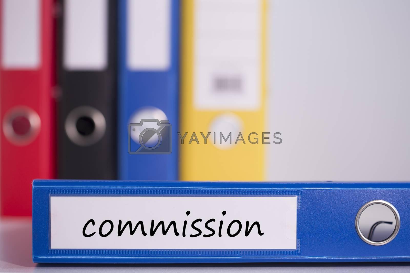 Commission on blue business binder by Wavebreakmedia