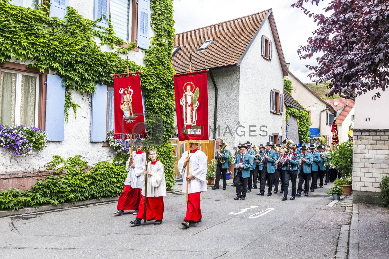 Royalty free image of Johannis procession in Oberrrotweil, Germany by meinzahn