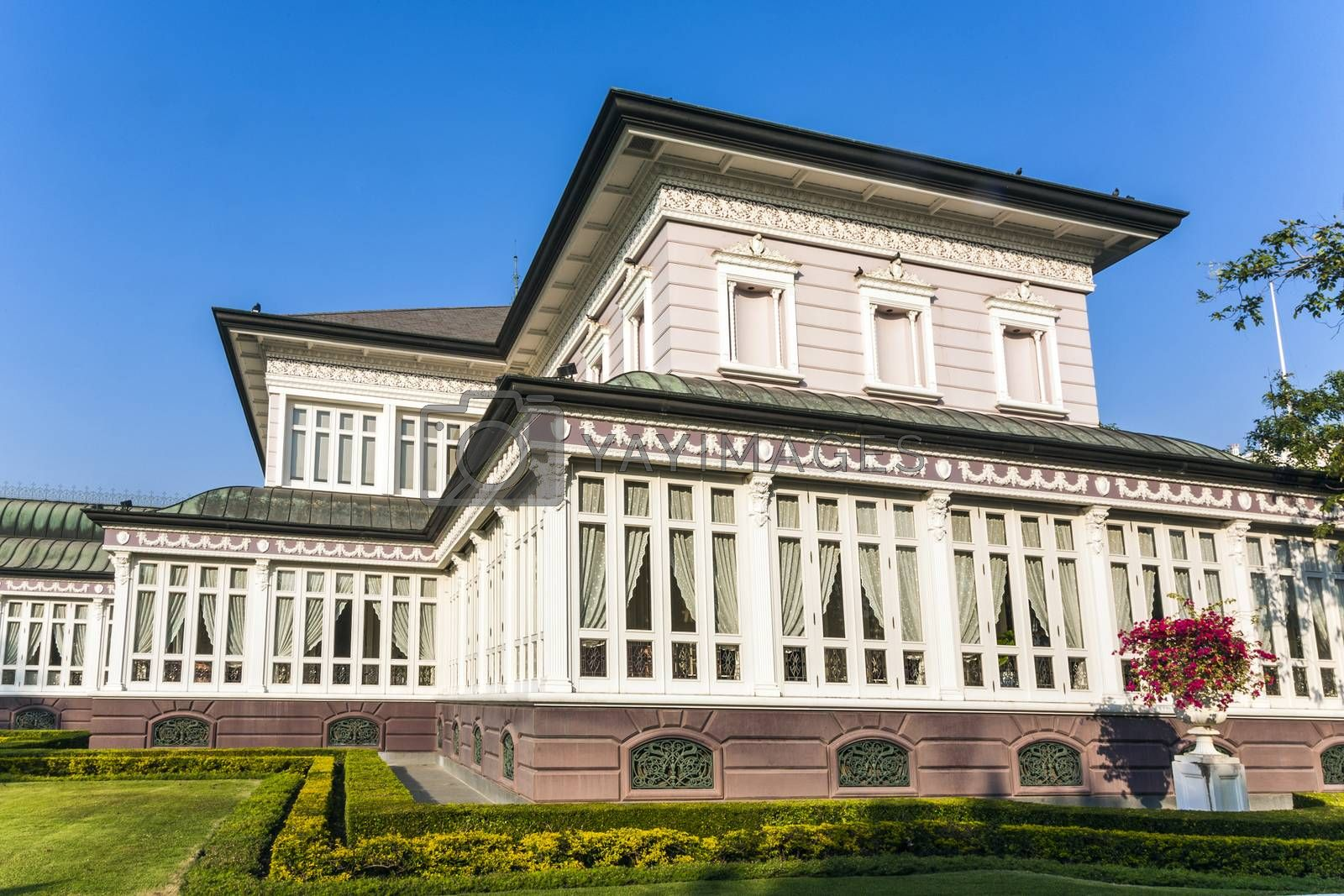 Royalty free image of main residence building at Bang Pa-In Palace  by meinzahn