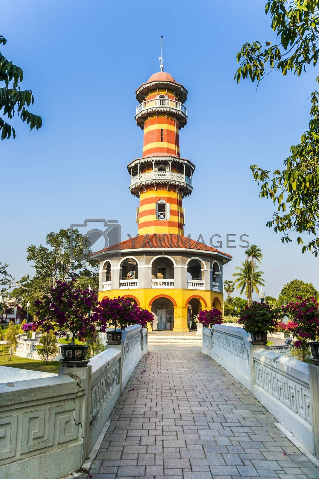 Royalty free image of  Sages Lookout Tower (Ho Withun Thasana) of the Thai royal Summe by meinzahn