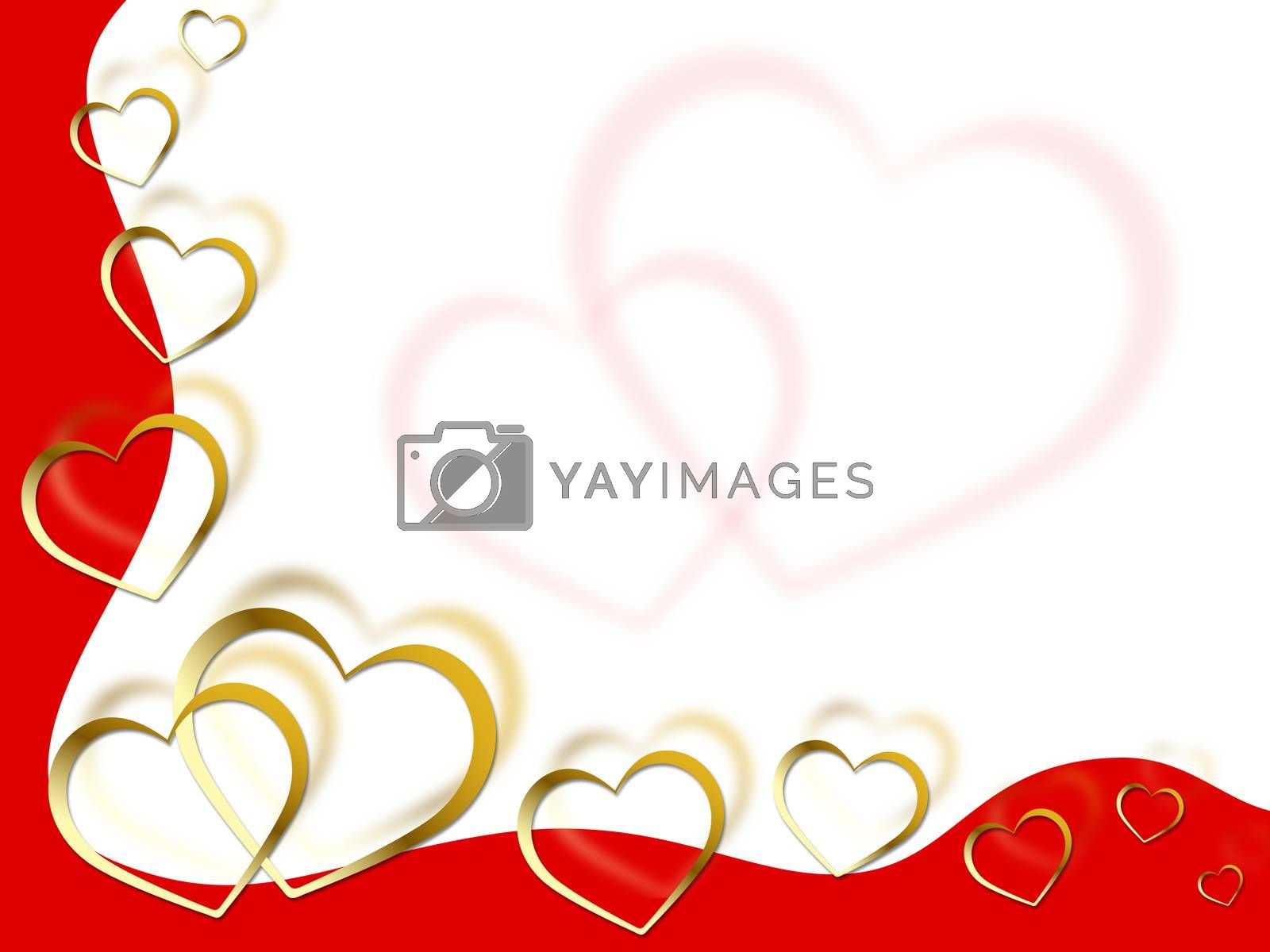 Hearts Background Meaning Shows Partner Romance And Red