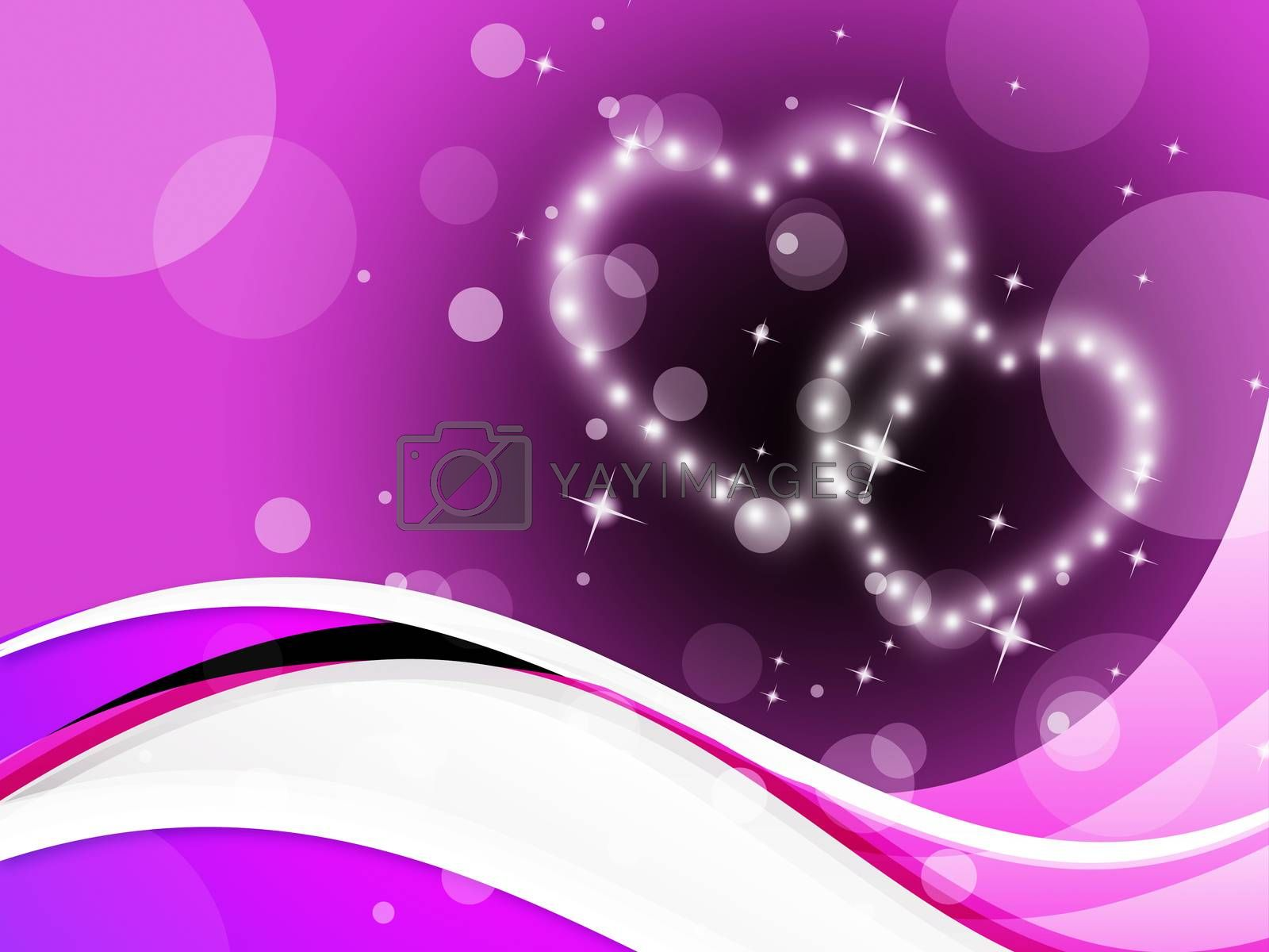 Purple Hearts Background Meaning Romance Affections And Twinkling