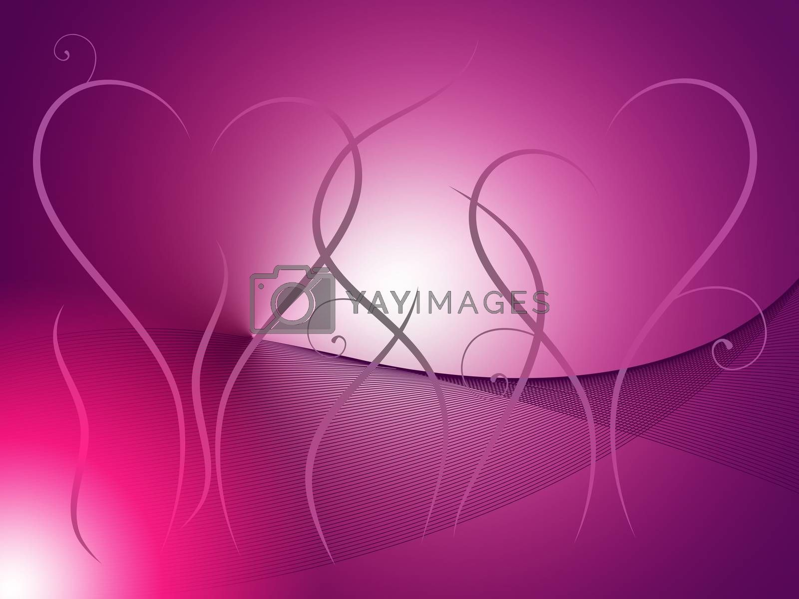 Grass Heart Background Showing Outdoor Wedding Or Romance