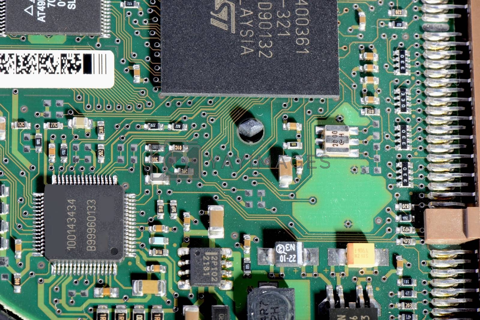 Electronic circuit board for computer