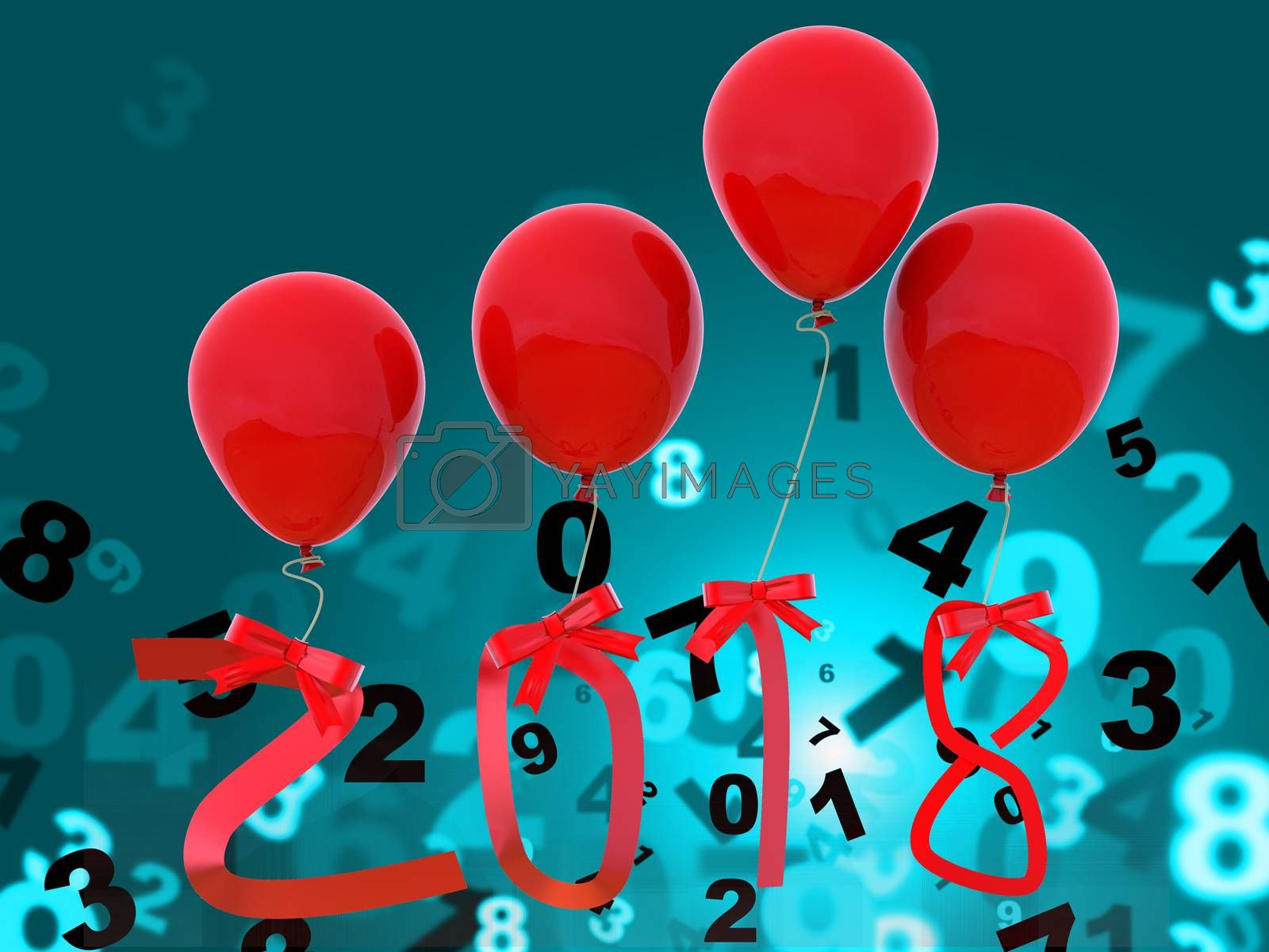 Twenty Eighteen Meaning Happy New Year And Happy New Year