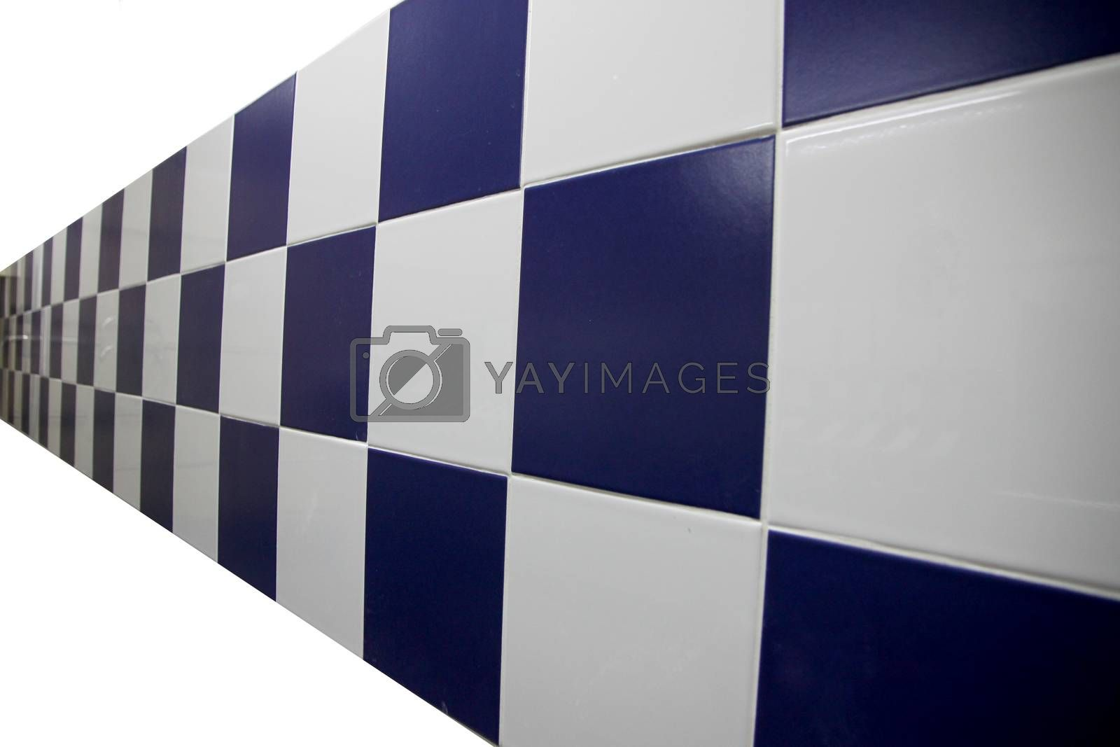 Pictuer The Blue Walls are checkered on white background.