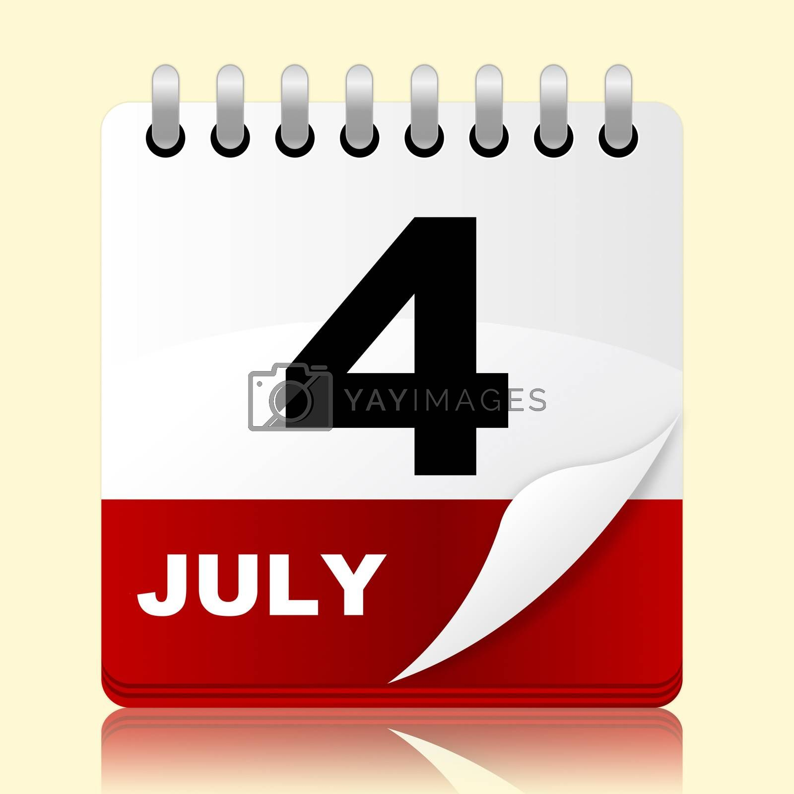 Fourth July Indicating Independence Day And Event