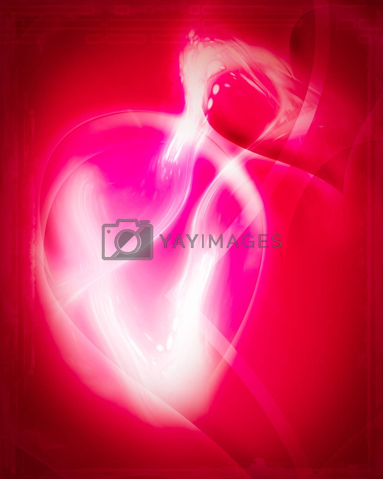 Valentines abstract by Lizard